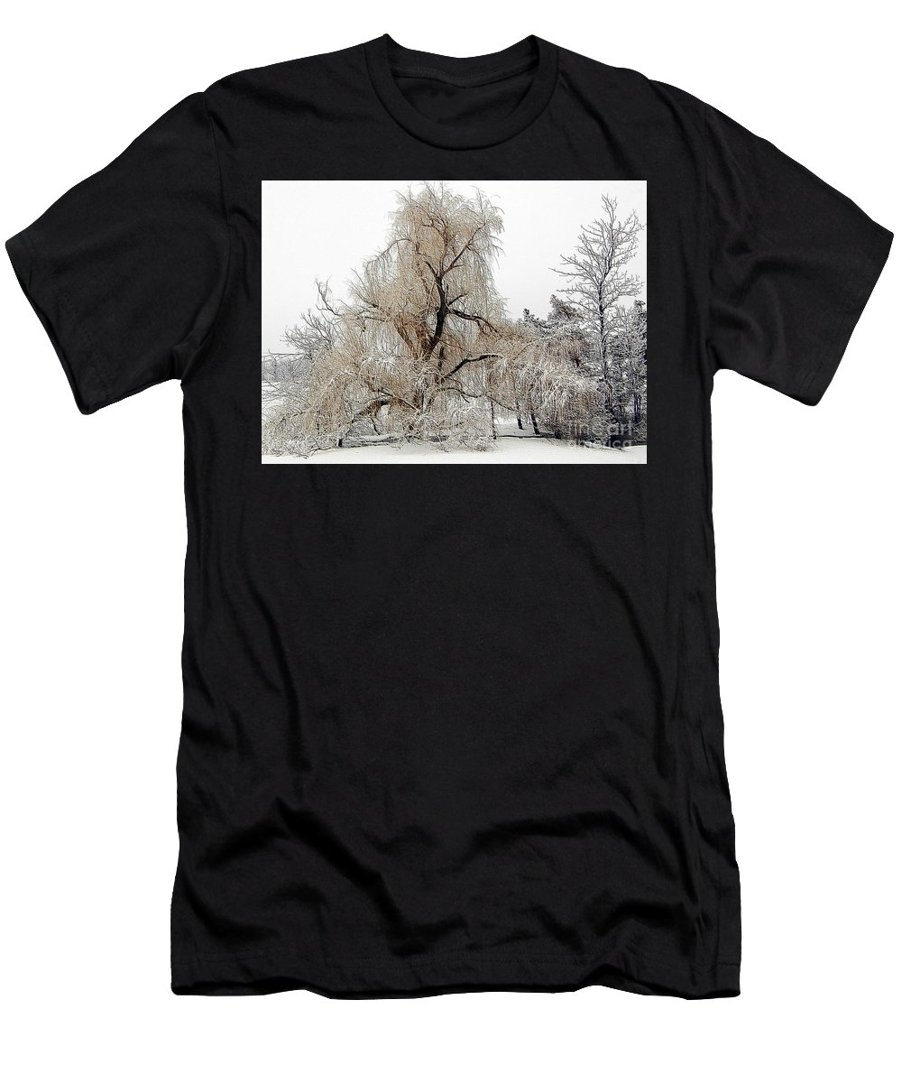 Winter Men's T-Shirt (Athletic Fit) featuring the photograph Winter Scene by Kathleen Struckle