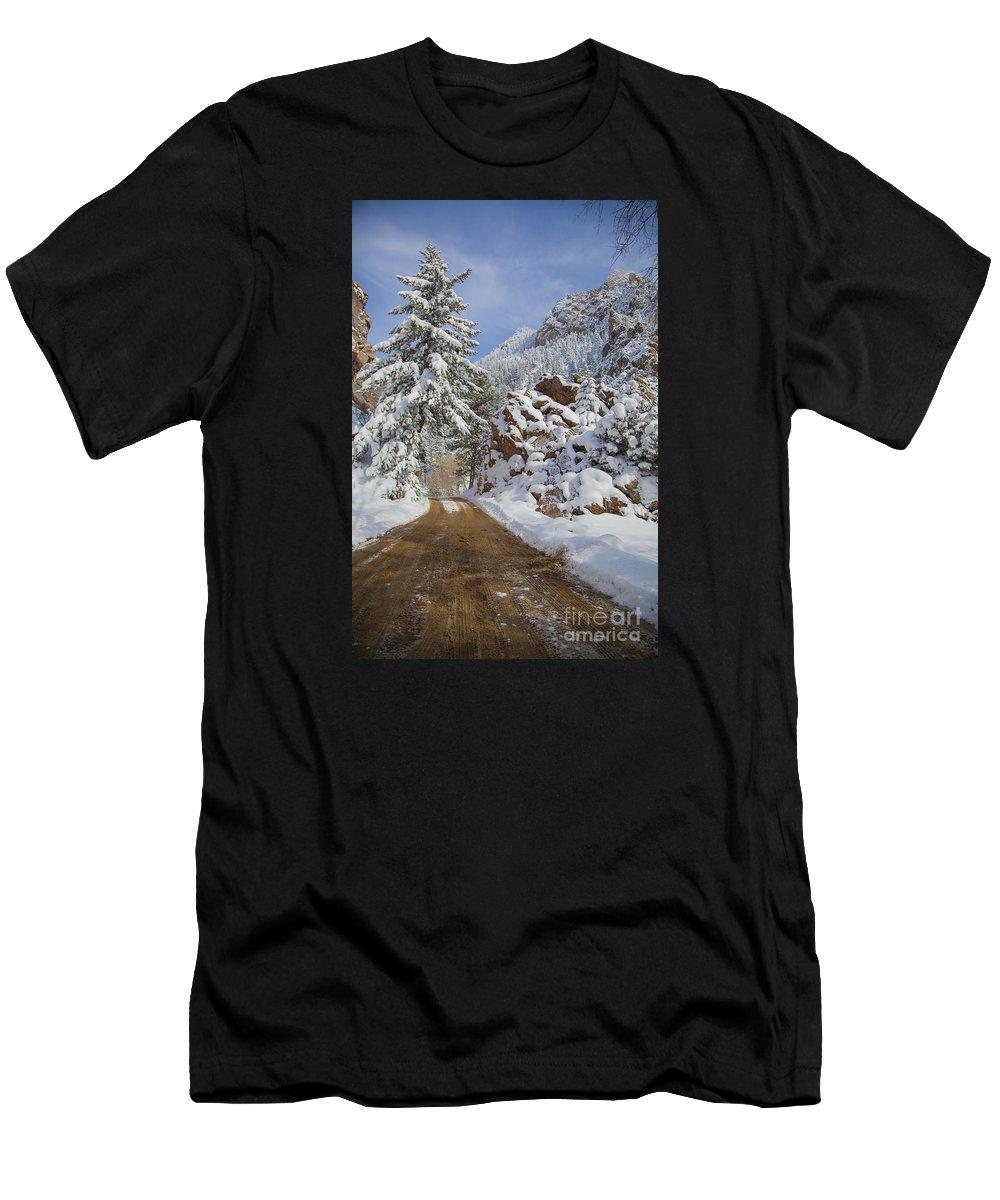 Denver Men's T-Shirt (Athletic Fit) featuring the photograph Winter Wonderland by James Souter