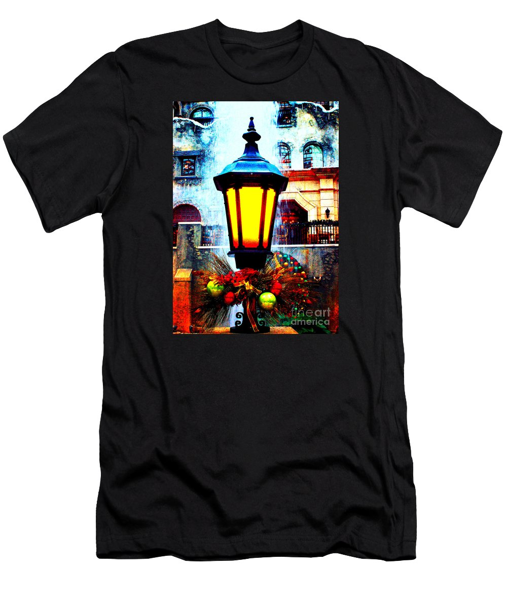 Gaylord Men's T-Shirt (Athletic Fit) featuring the photograph Winter's Glow by Steve C Heckman