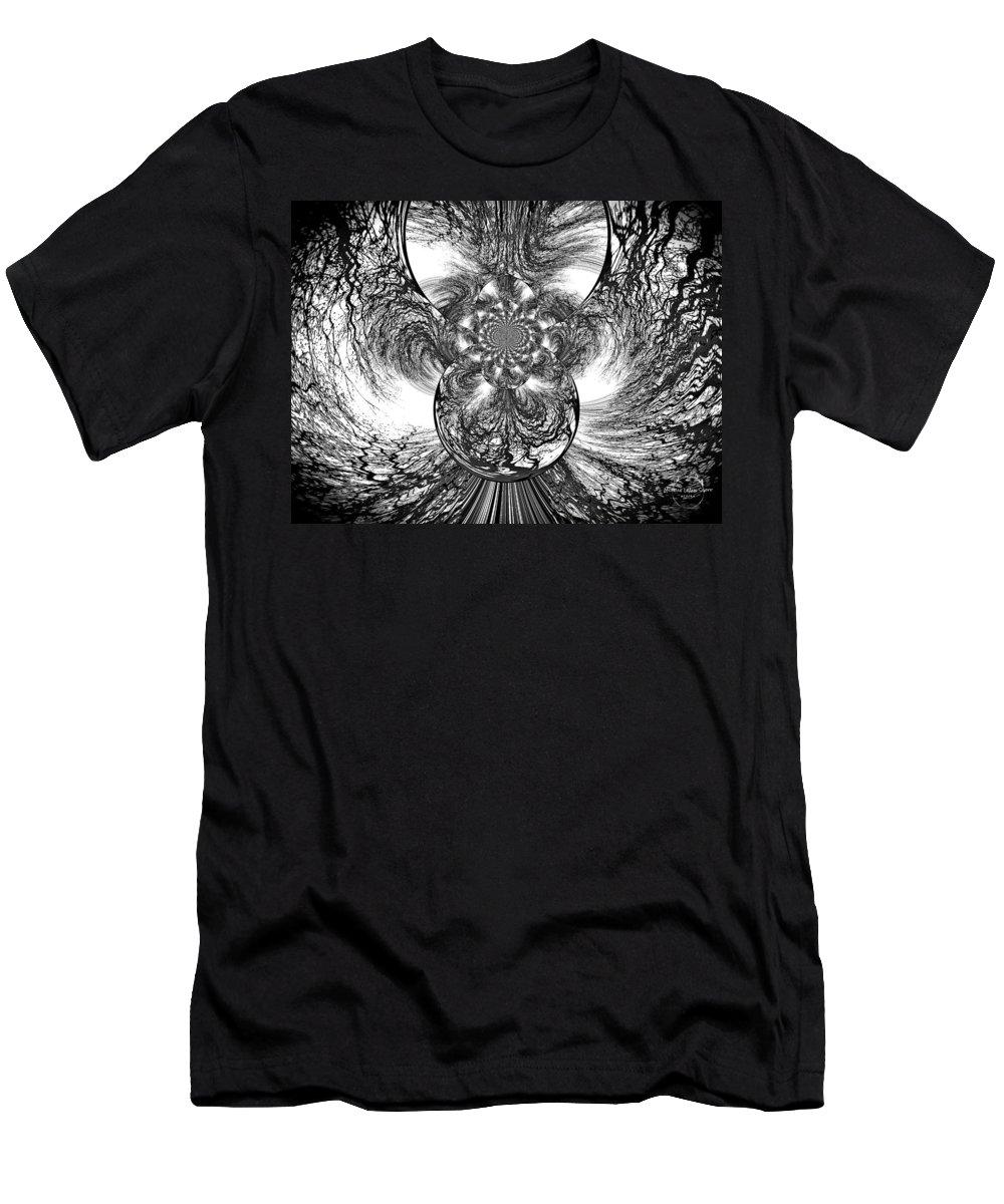 Winter Men's T-Shirt (Athletic Fit) featuring the digital art Winter's Vortex by Absinthe Art By Michelle LeAnn Scott