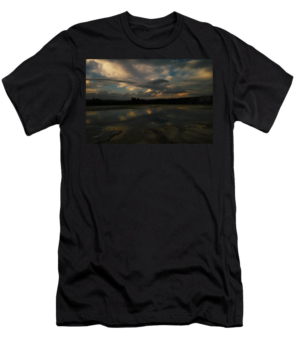 Yellowstone Men's T-Shirt (Athletic Fit) featuring the photograph Within The Moment Of A Moment by Jeff Swan