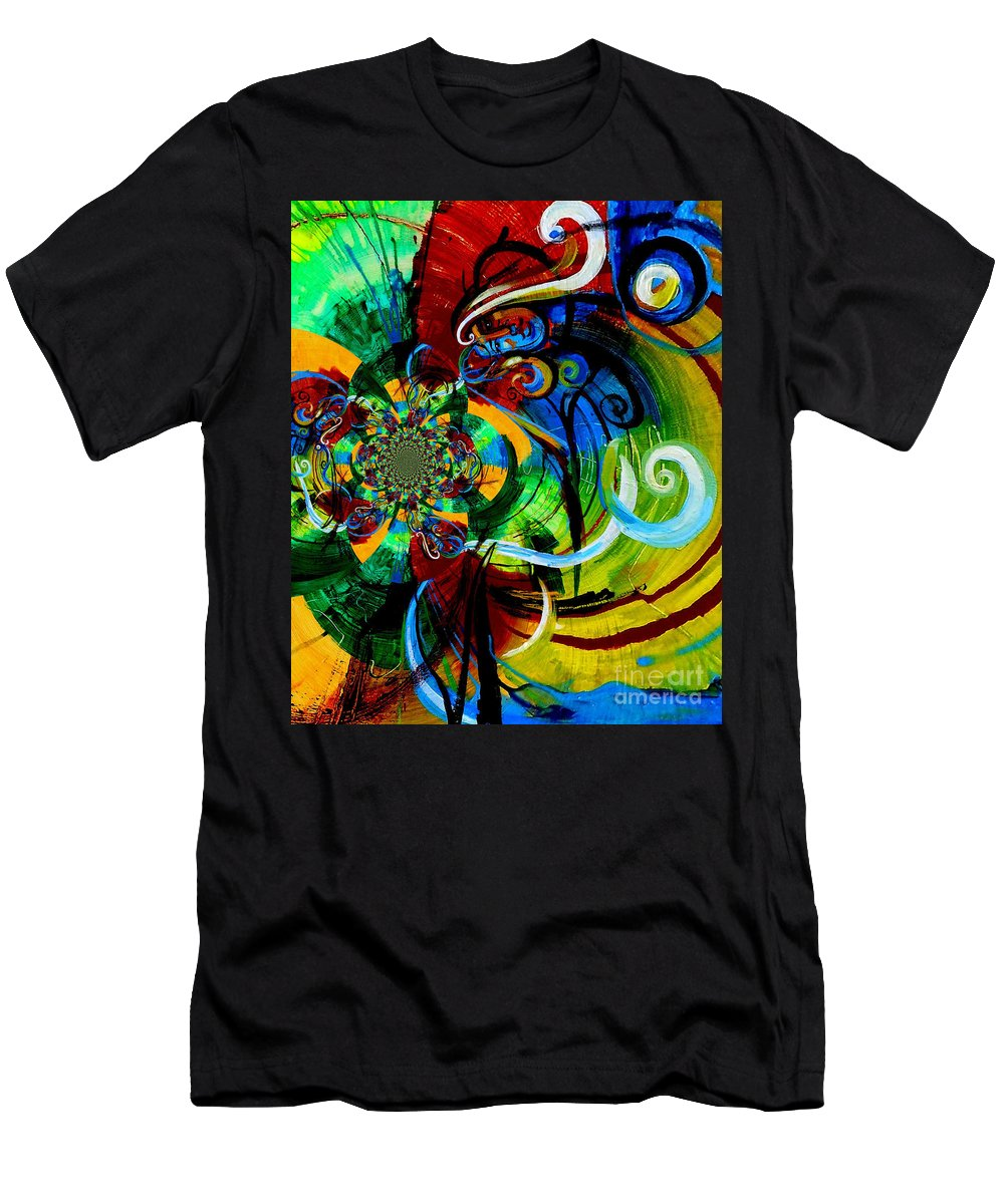 Woman Men's T-Shirt (Athletic Fit) featuring the painting Woman Bass Kaleidoscope by Genevieve Esson