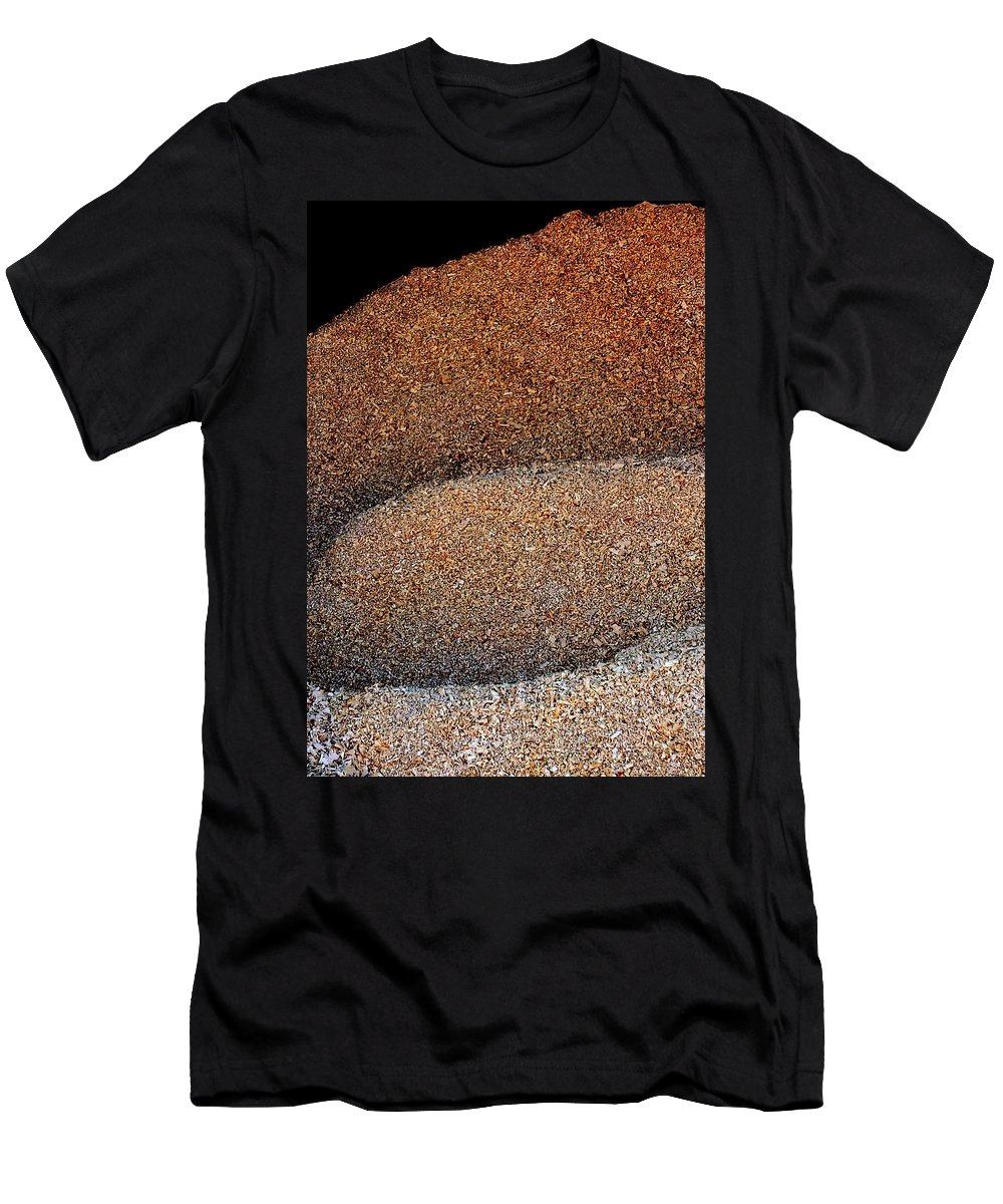 Hopper Men's T-Shirt (Athletic Fit) featuring the photograph Wood Shavings by Guy Pettingell