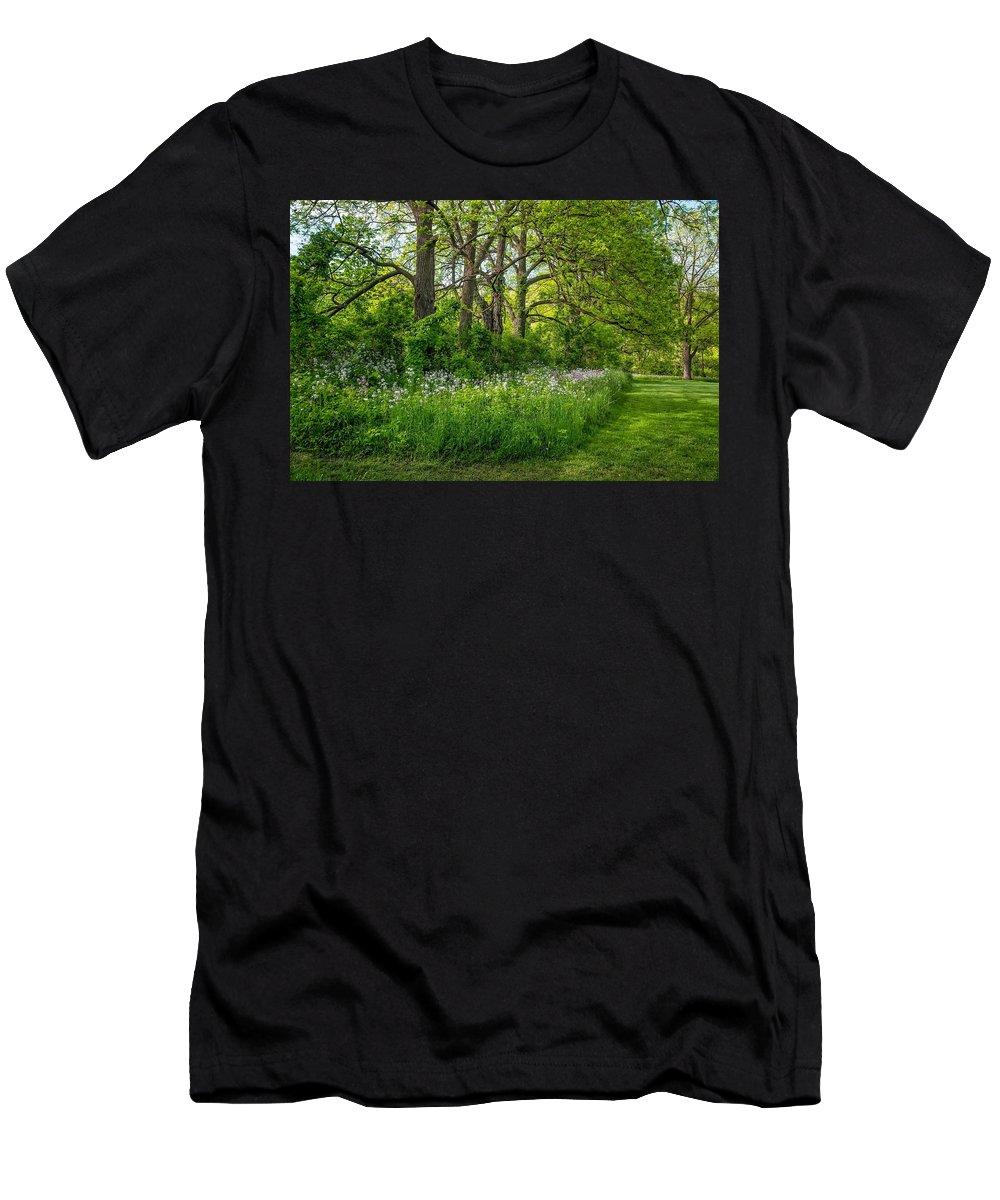 Bolton Men's T-Shirt (Athletic Fit) featuring the photograph Woodland Phlox  by Steve Harrington