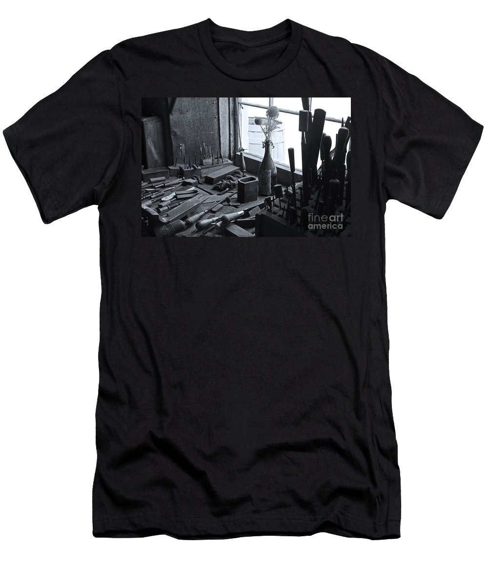 Workbench Men's T-Shirt (Athletic Fit) featuring the photograph Workbench by David Rucker