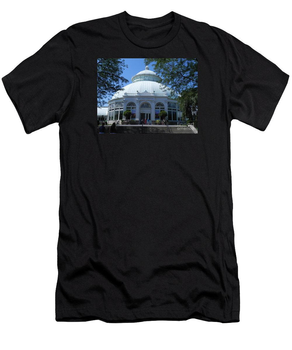 Photography Men's T-Shirt (Athletic Fit) featuring the photograph World Of Plants Building At The New York Botanical Gardens by Chrisann Ellis
