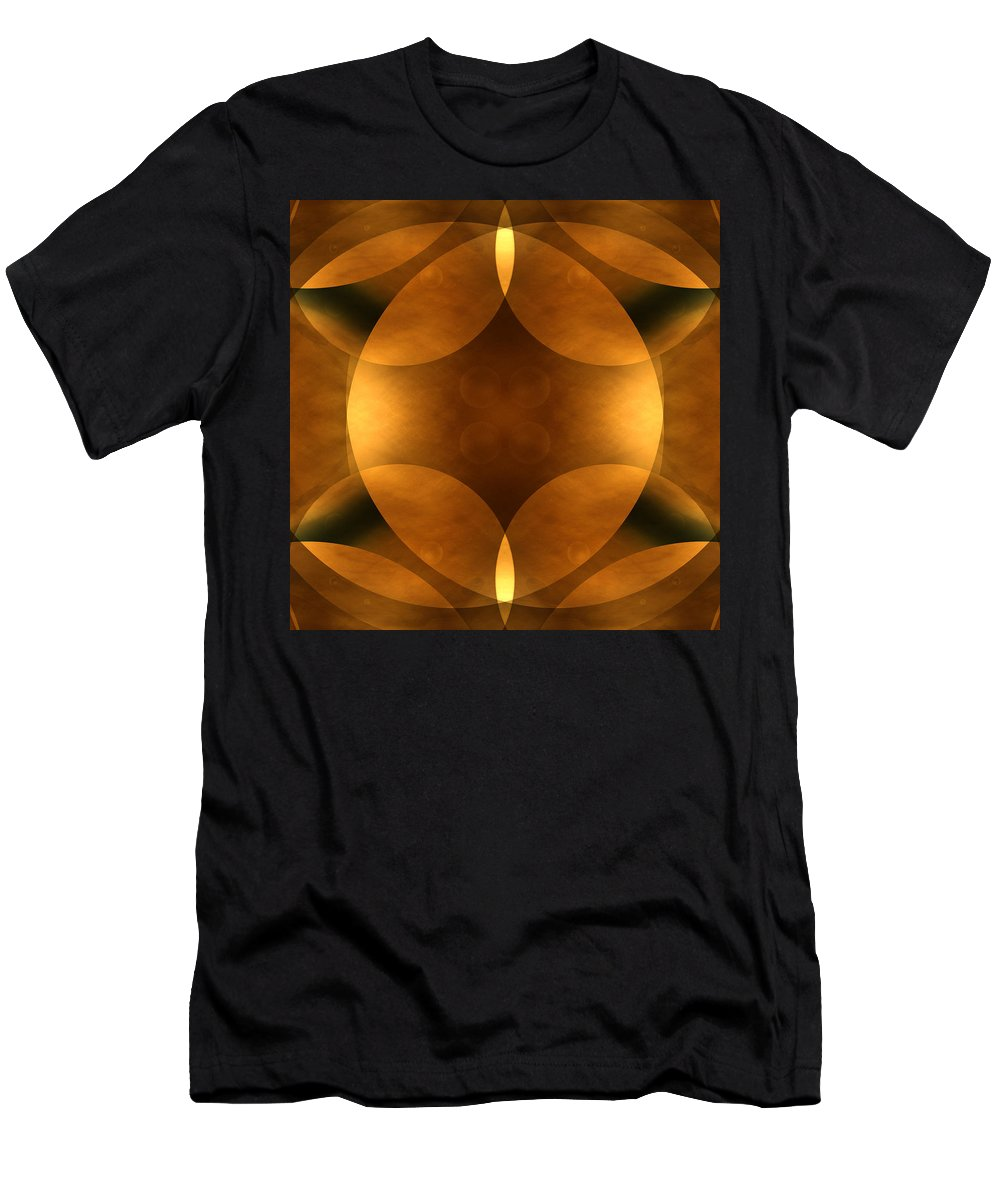 Abstract Men's T-Shirt (Athletic Fit) featuring the photograph Worlds Collide 11 by Mike McGlothlen