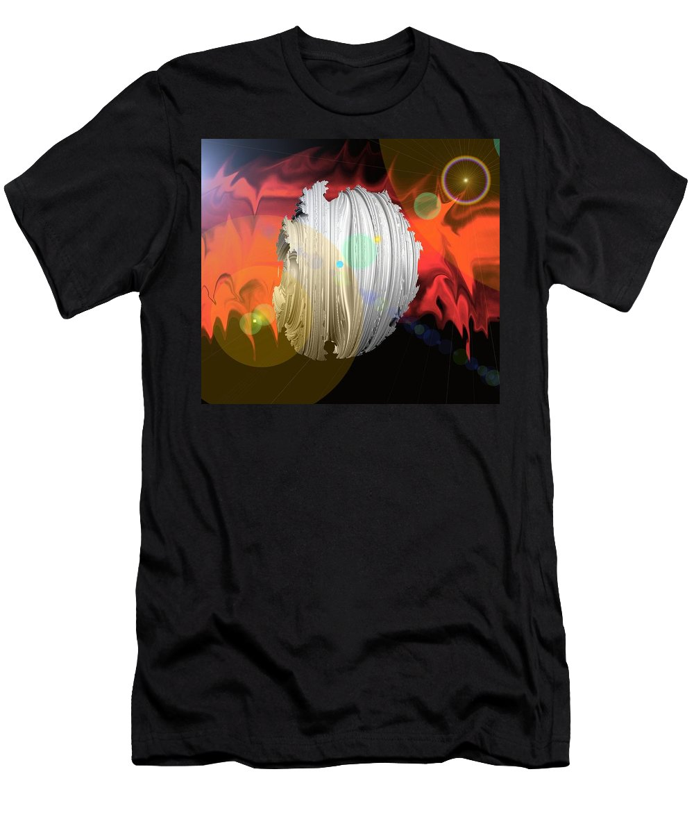 Dark Men's T-Shirt (Athletic Fit) featuring the photograph Wormhole Predator by Jeff Swan