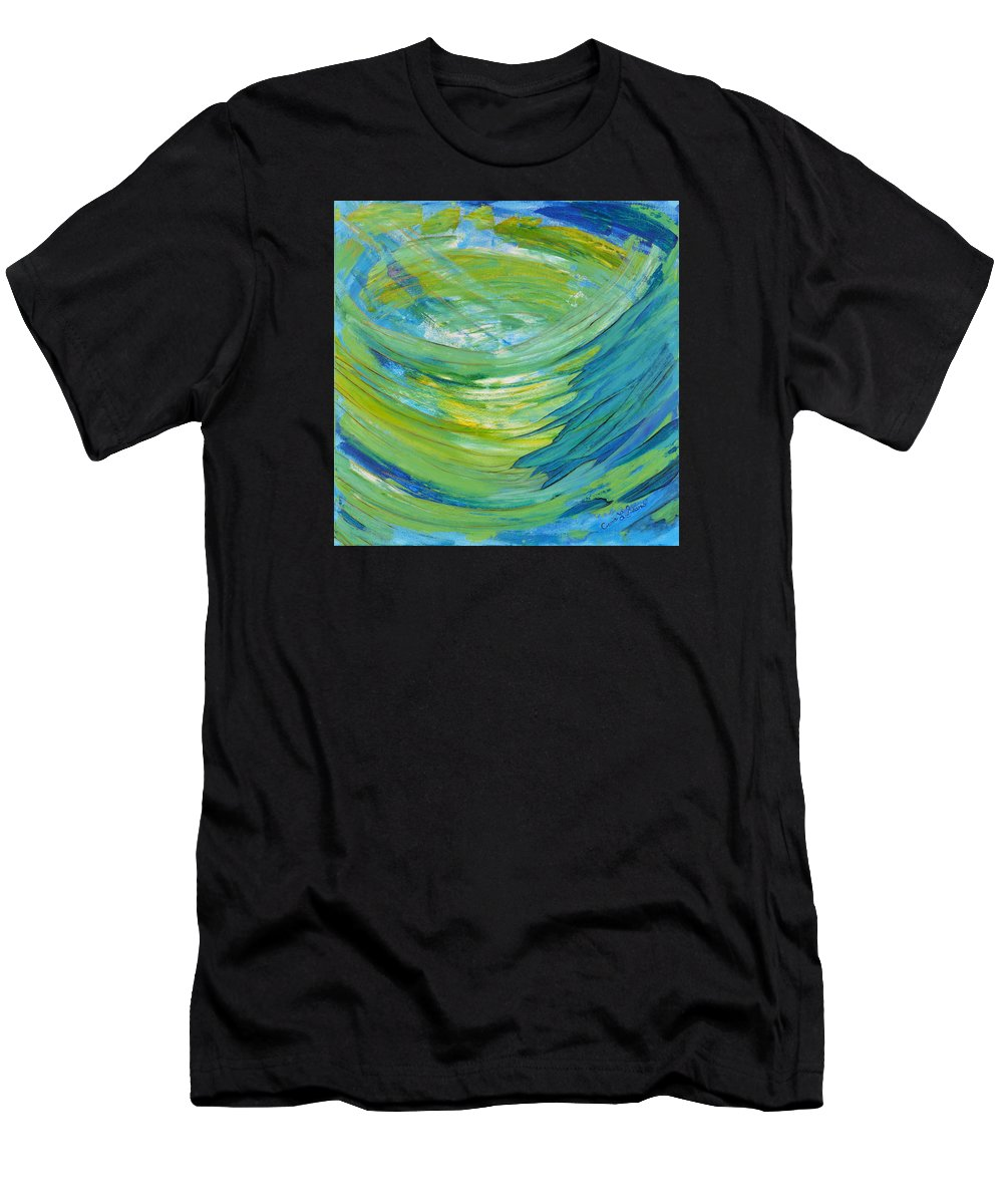 Fine Art By Cassie Sears Men's T-Shirt (Athletic Fit) featuring the painting Worship by Cassie Sears