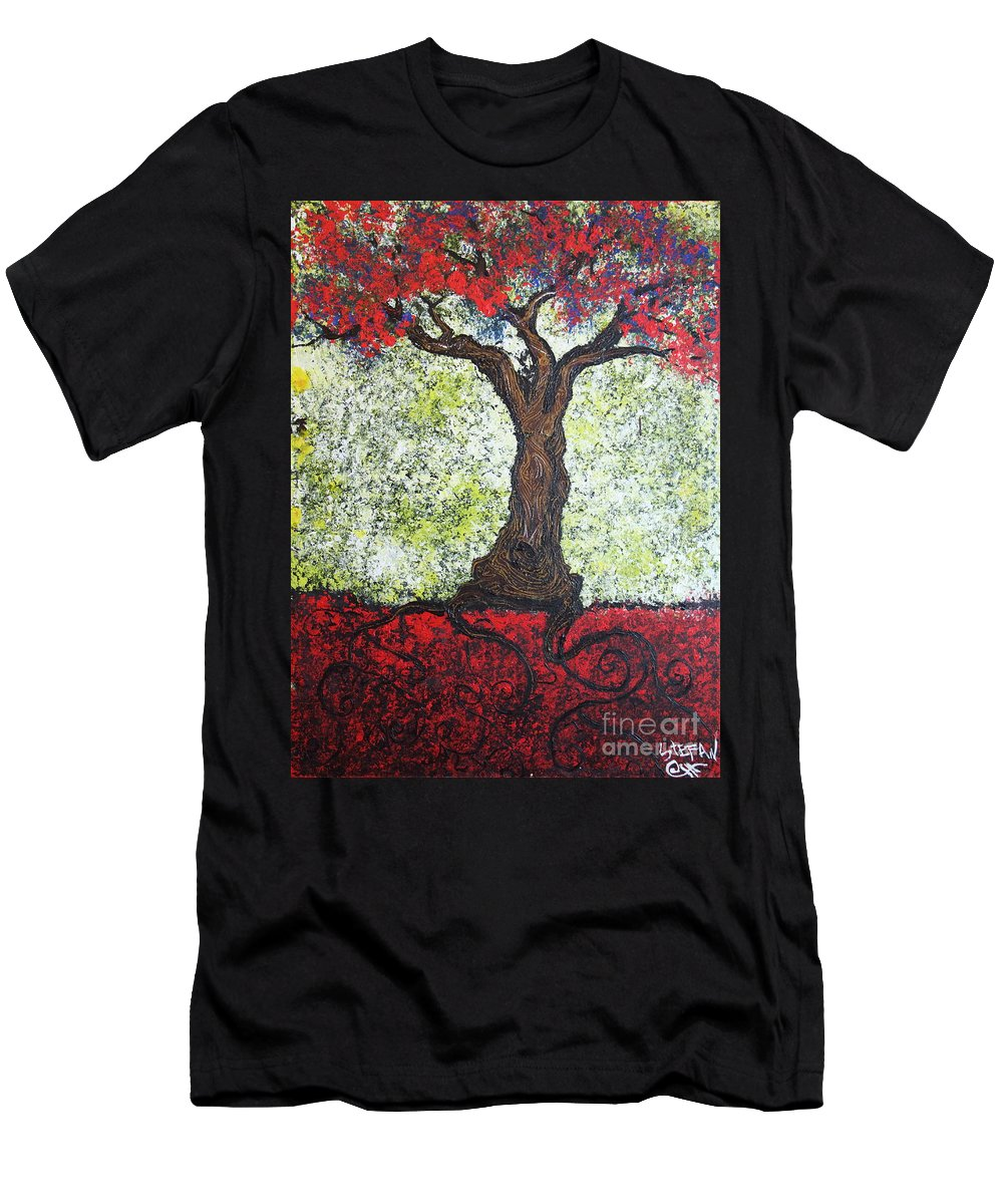 Impressionism Men's T-Shirt (Athletic Fit) featuring the painting Would She by Stefan Duncan