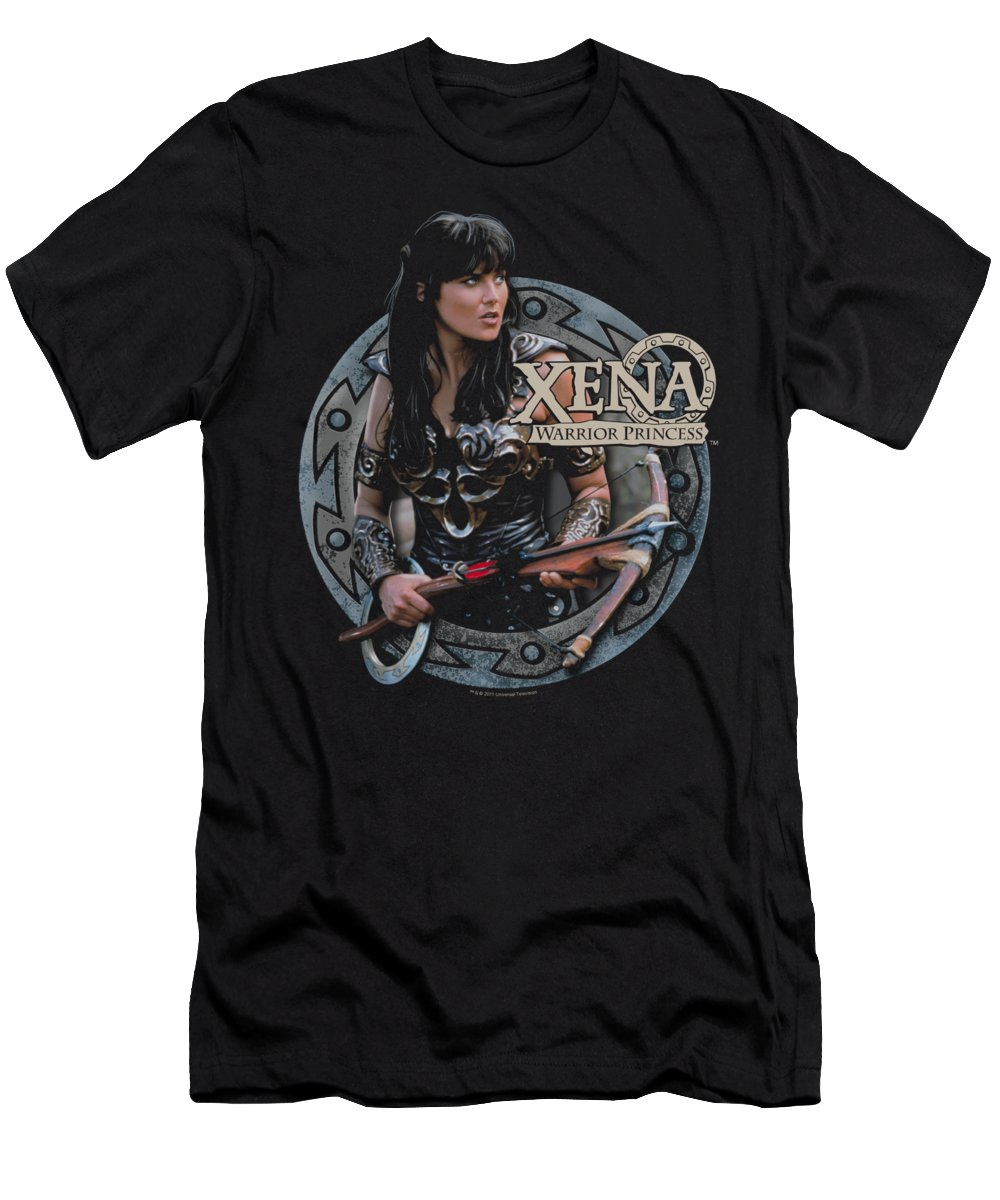 Xena Men's T-Shirt (Athletic Fit) featuring the digital art Xena - The Warrior by Brand A