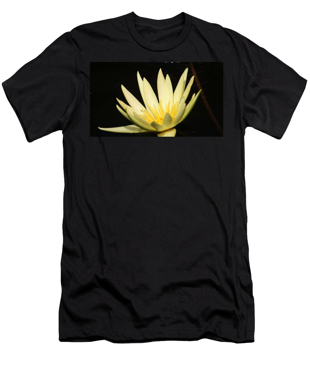 Yellow Men's T-Shirt (Athletic Fit) featuring the photograph Yellow And Yellow Waterlily...  # by Rob Luzier
