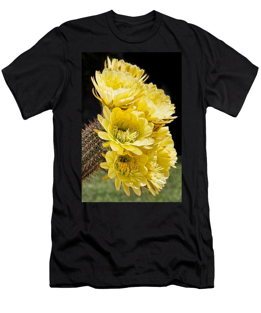 Bouquet Men's T-Shirt (Athletic Fit) featuring the photograph Yellow Bouquet by Kelley King