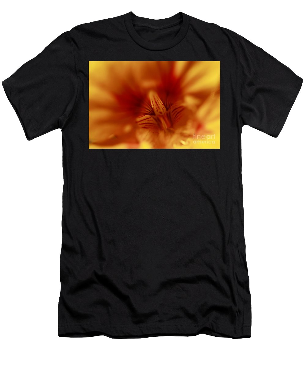 Florals Men's T-Shirt (Athletic Fit) featuring the photograph Yellow Into Red by John F Tsumas