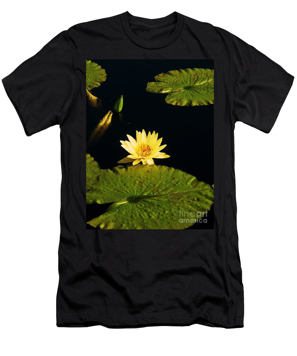 Photograph Men's T-Shirt (Athletic Fit) featuring the photograph Yellow Lily by Eric Schiabor