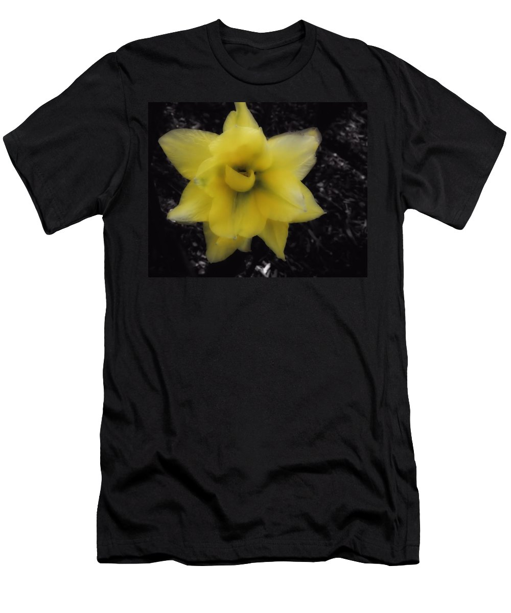 Tulip Men's T-Shirt (Athletic Fit) featuring the photograph Yellow Parrot Tulip by John Feiser