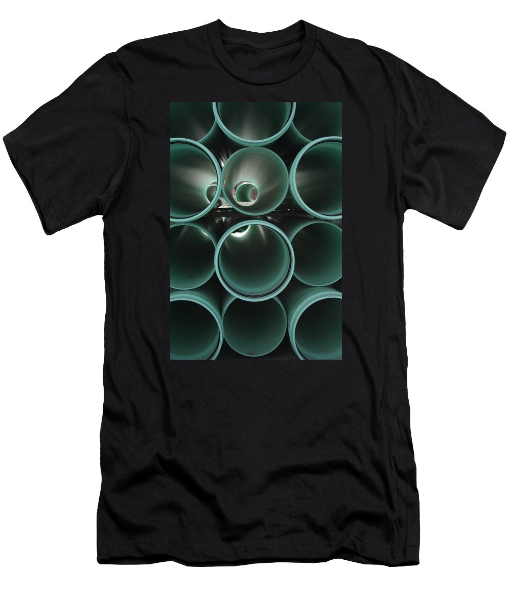 Abstract Men's T-Shirt (Athletic Fit) featuring the photograph You Too Will Someday Be Underground by Ric Bascobert