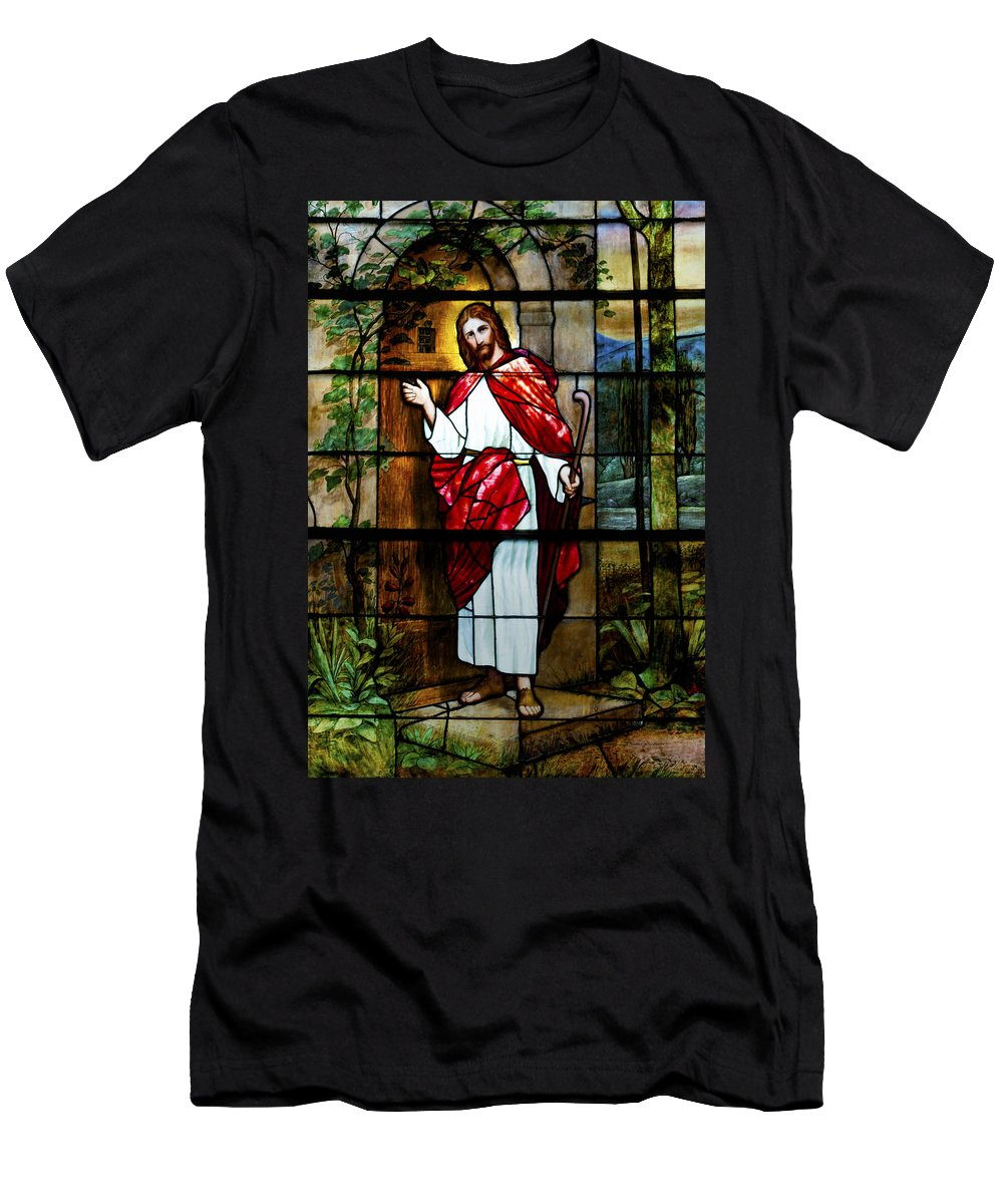 Homeless Men's T-Shirt (Athletic Fit) featuring the photograph Your Shepherd Is Knocking by Thomas Woolworth