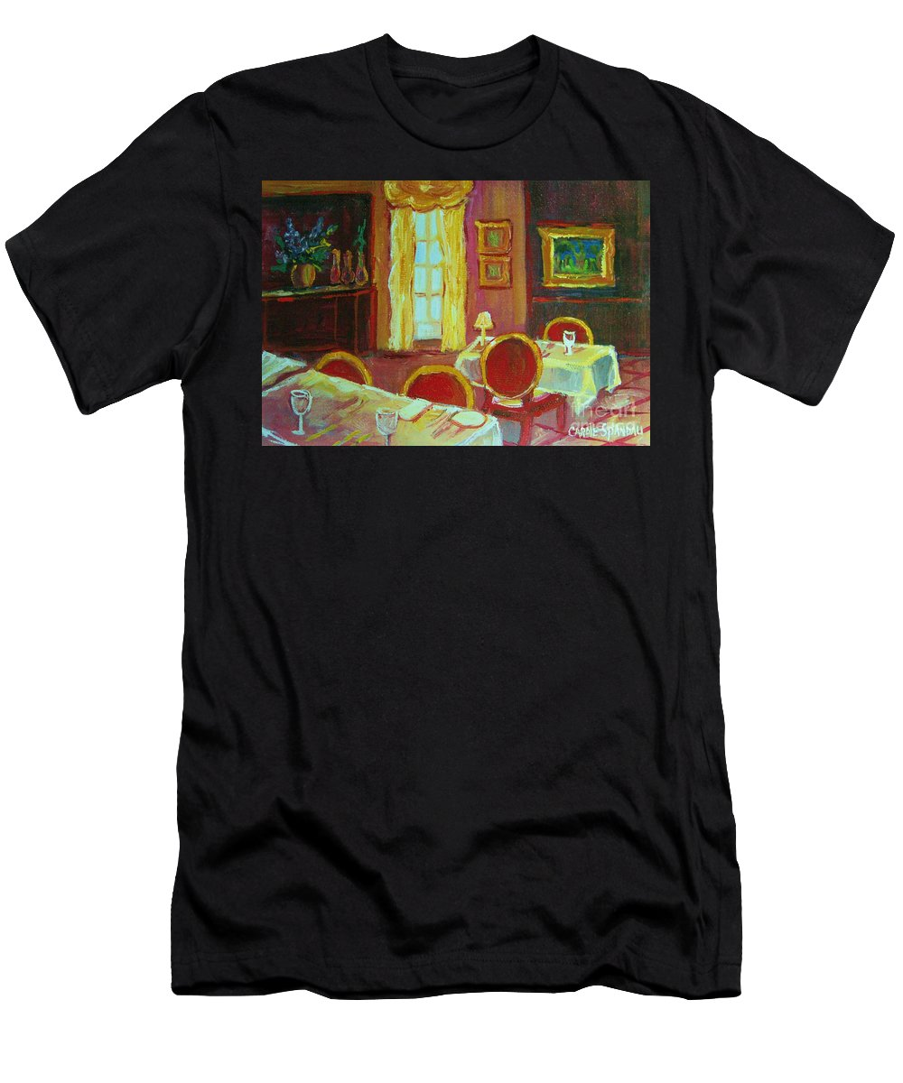 Interior Men's T-Shirt (Athletic Fit) featuring the painting Your Table Awaits by Carole Spandau