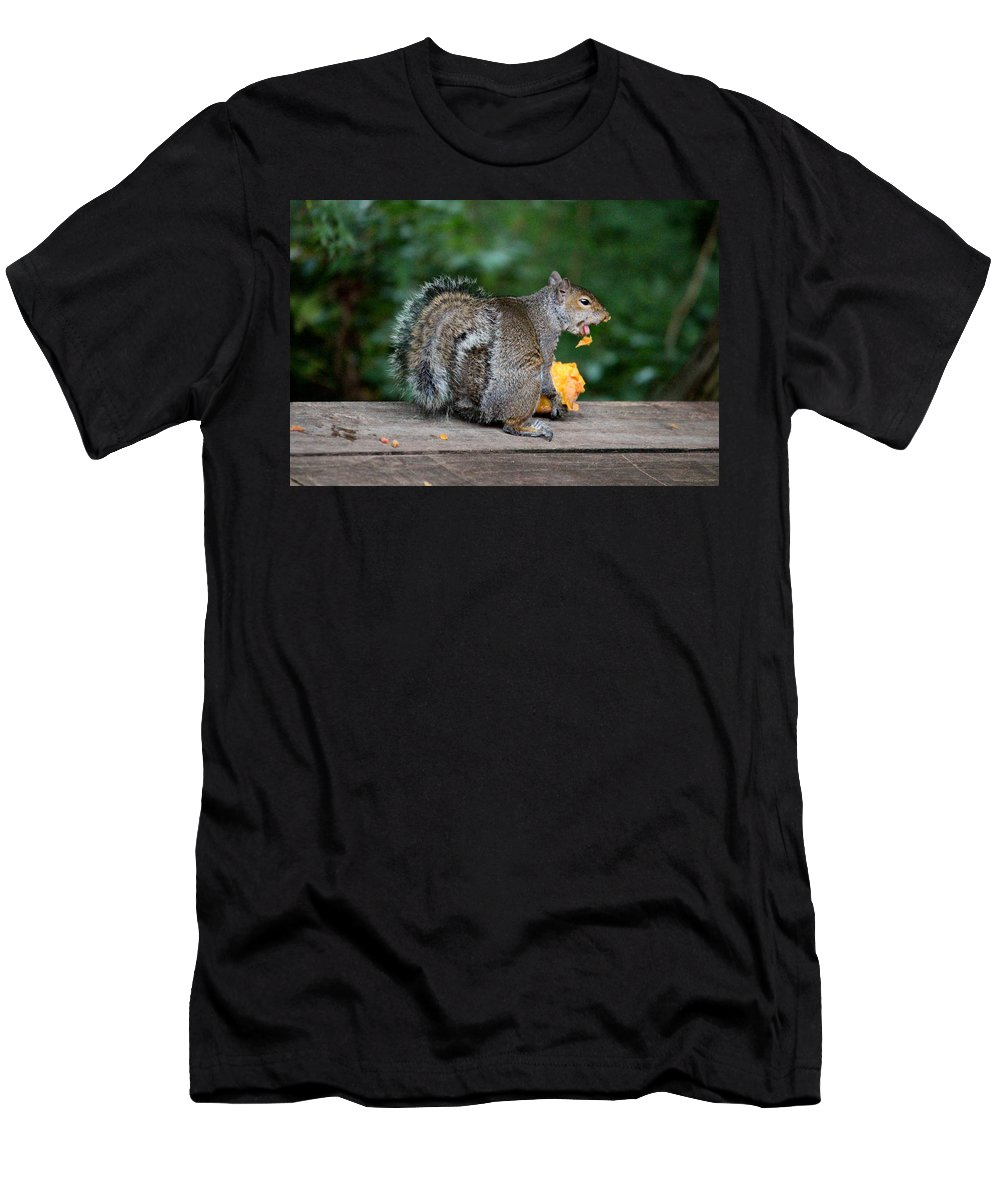 Mammals Men's T-Shirt (Athletic Fit) featuring the photograph Yuk I Hate Peach Fuzz by Kym Backland
