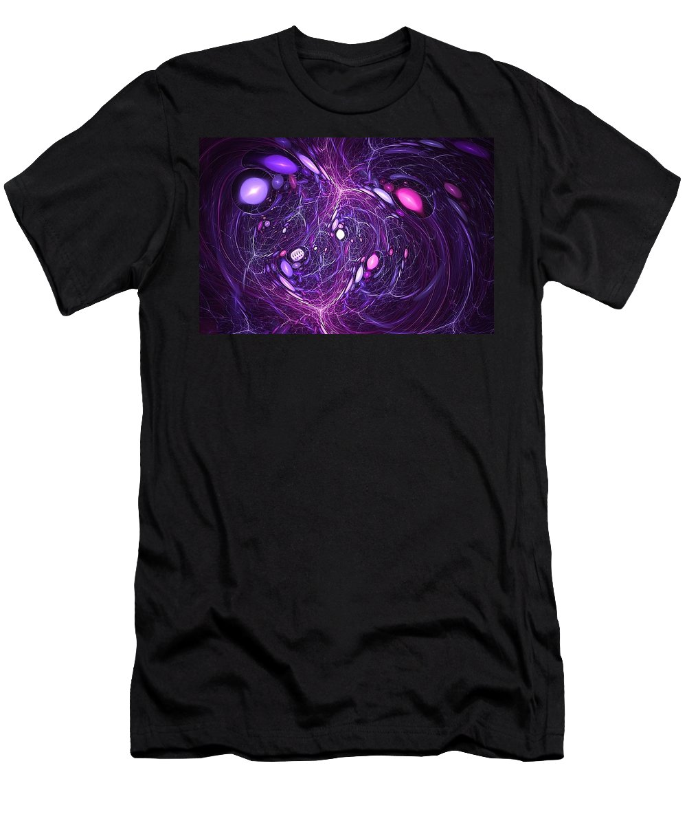 Galactic Rip Tide Men's T-Shirt (Athletic Fit) featuring the digital art Zanzibar by Doug Morgan