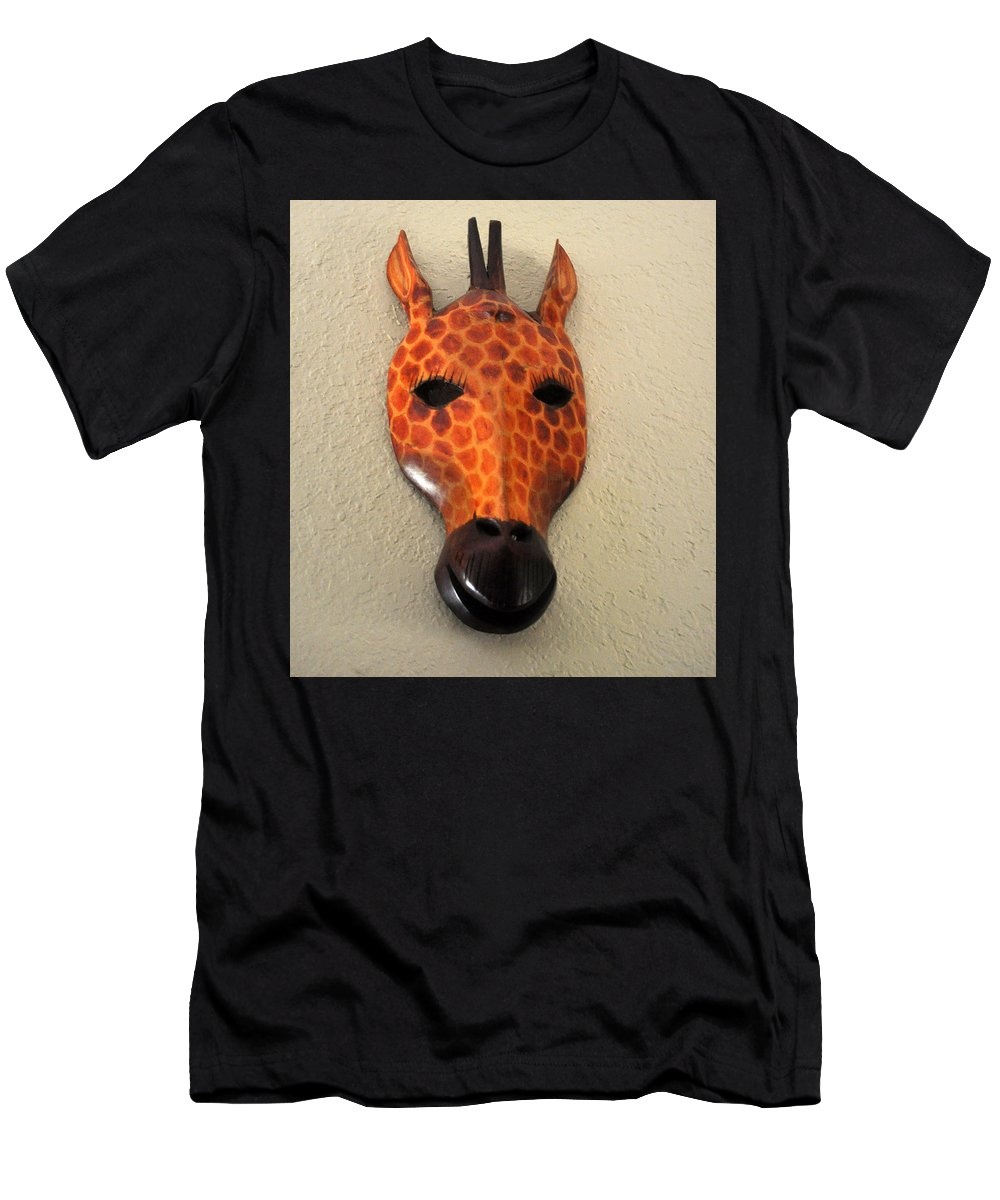 Animal Men's T-Shirt (Athletic Fit) featuring the photograph Zebra Head Mask by Jay Milo