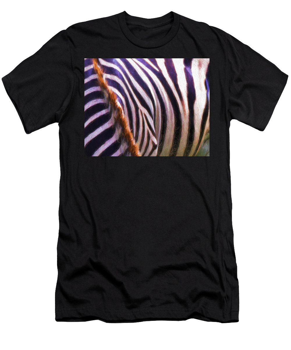 Zebra Men's T-Shirt (Athletic Fit) featuring the photograph Zebra Lines by Alice Gipson