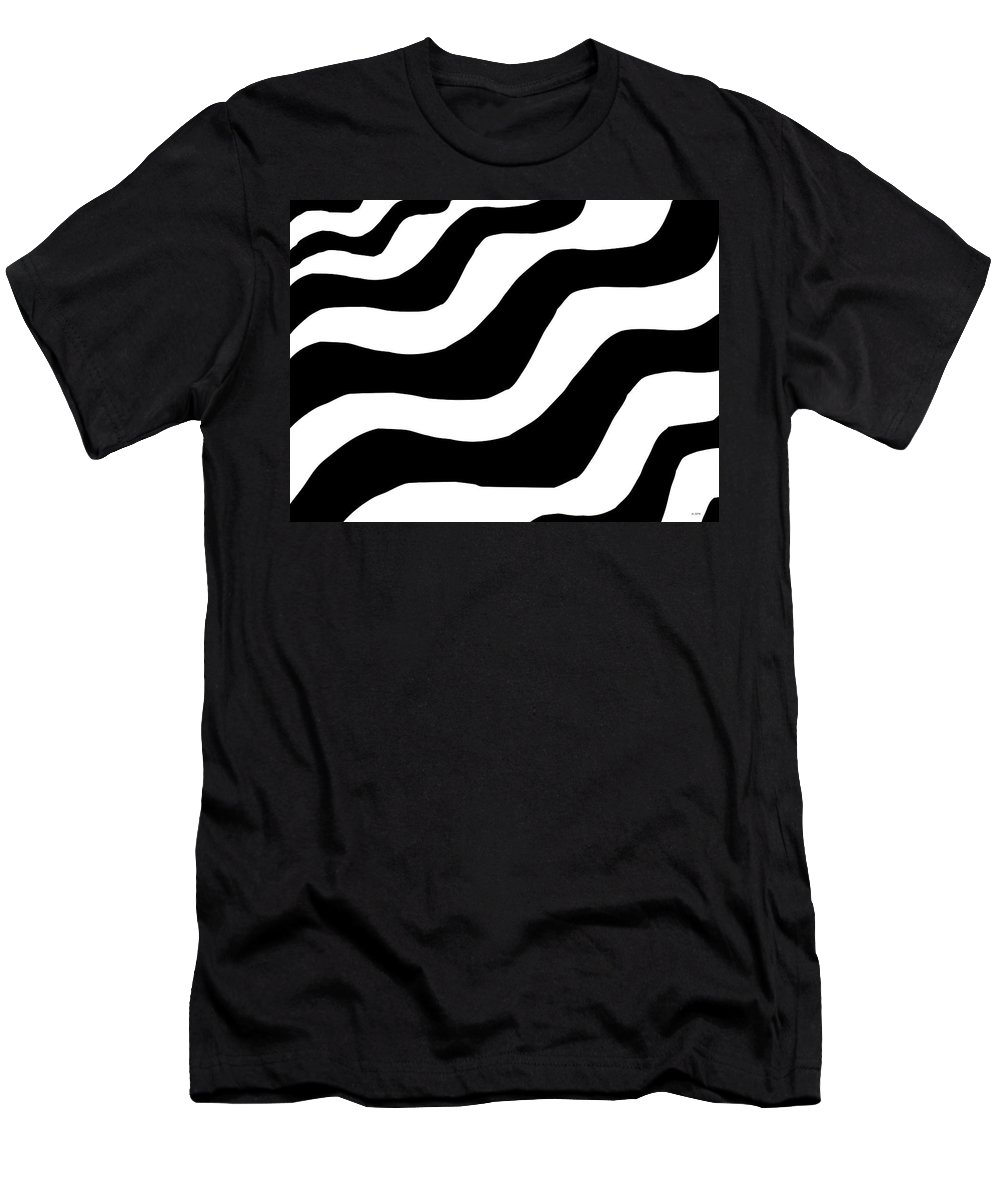 Abstract Men's T-Shirt (Athletic Fit) featuring the digital art Zebra Waves by Geraldine Cote