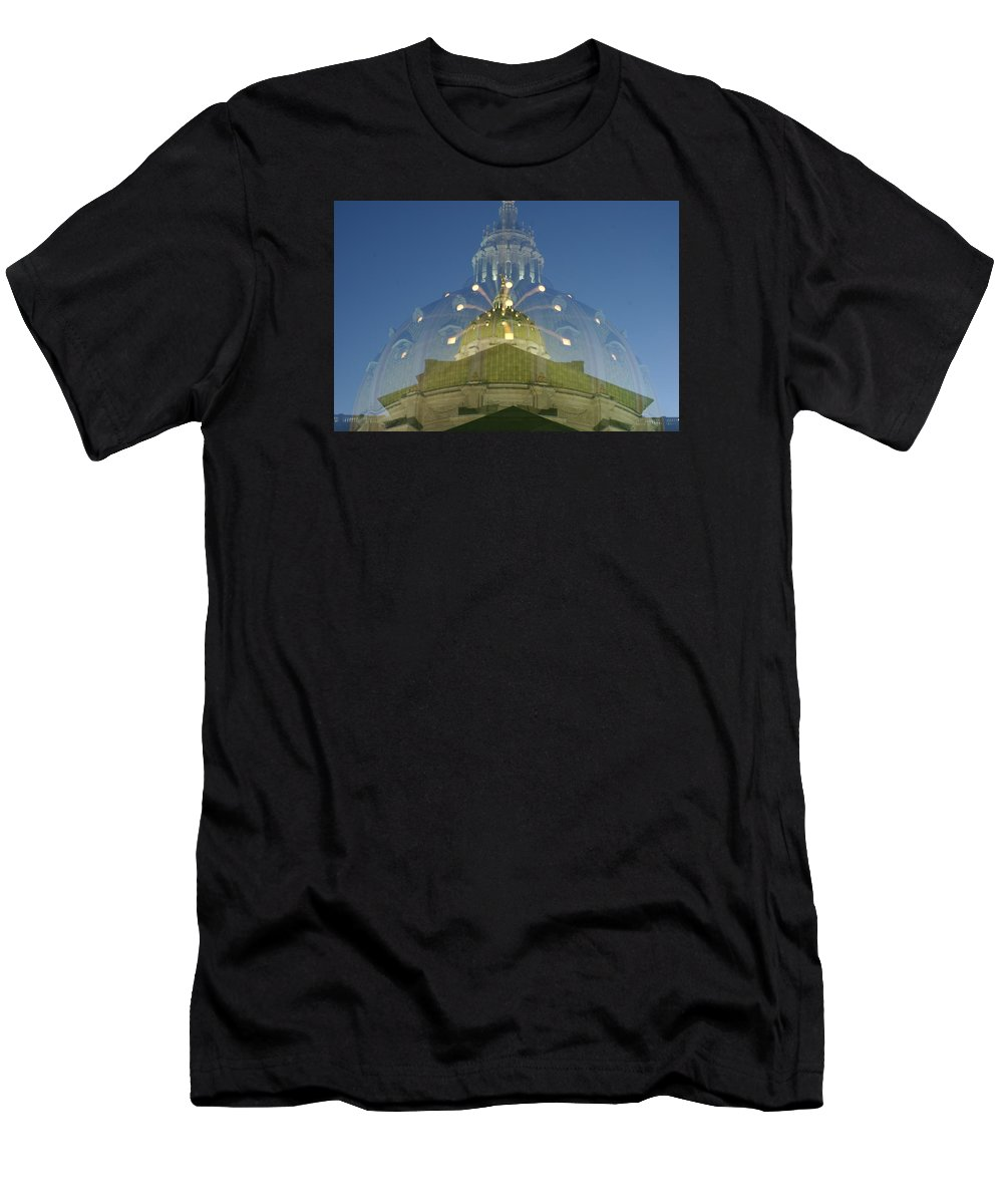 State Men's T-Shirt (Athletic Fit) featuring the photograph Zoomy Dome  # by Rob Luzier