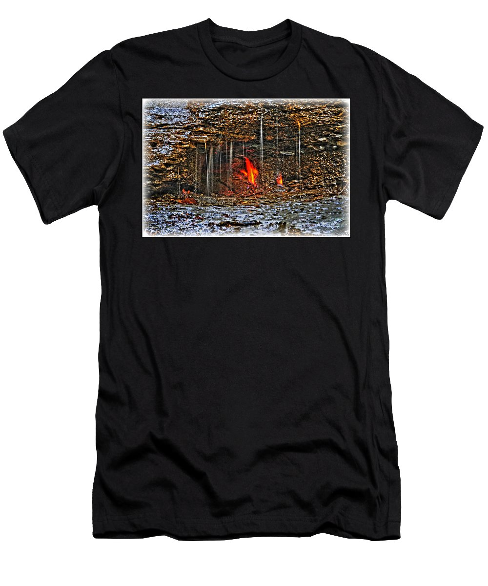 Men's T-Shirt (Athletic Fit) featuring the photograph 0004 Natural Elements by Michael Frank Jr
