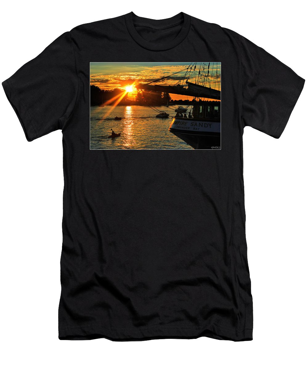 Men's T-Shirt (Athletic Fit) featuring the photograph 004 Empire Sandy Series by Michael Frank Jr