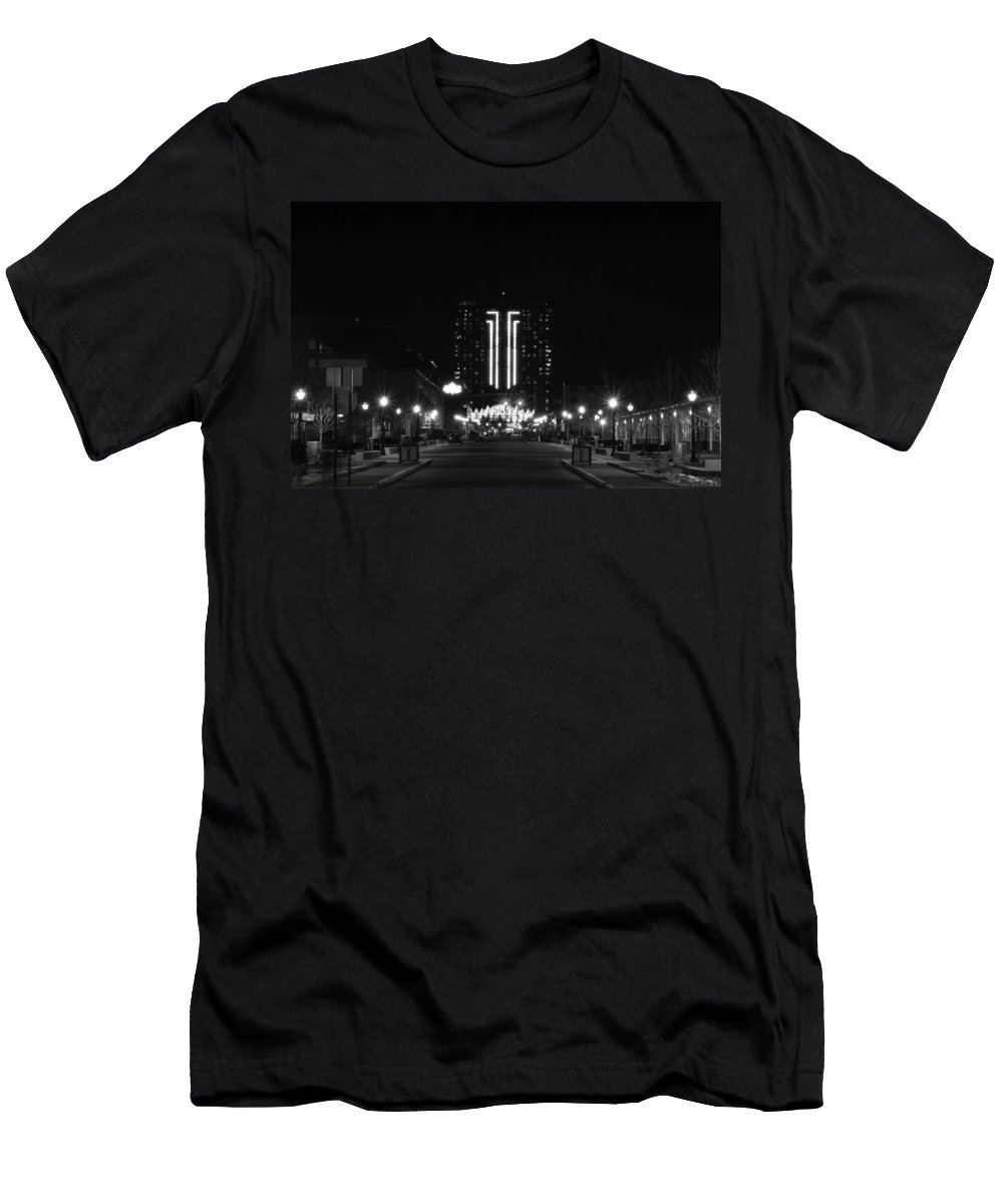 Men's T-Shirt (Athletic Fit) featuring the photograph 01 Seneca Niagara Casino by Michael Frank Jr