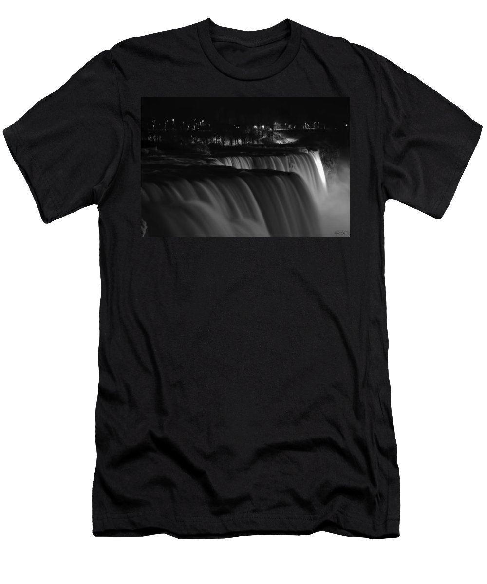 Men's T-Shirt (Athletic Fit) featuring the photograph 012 Niagara Falls Usa Series by Michael Frank Jr