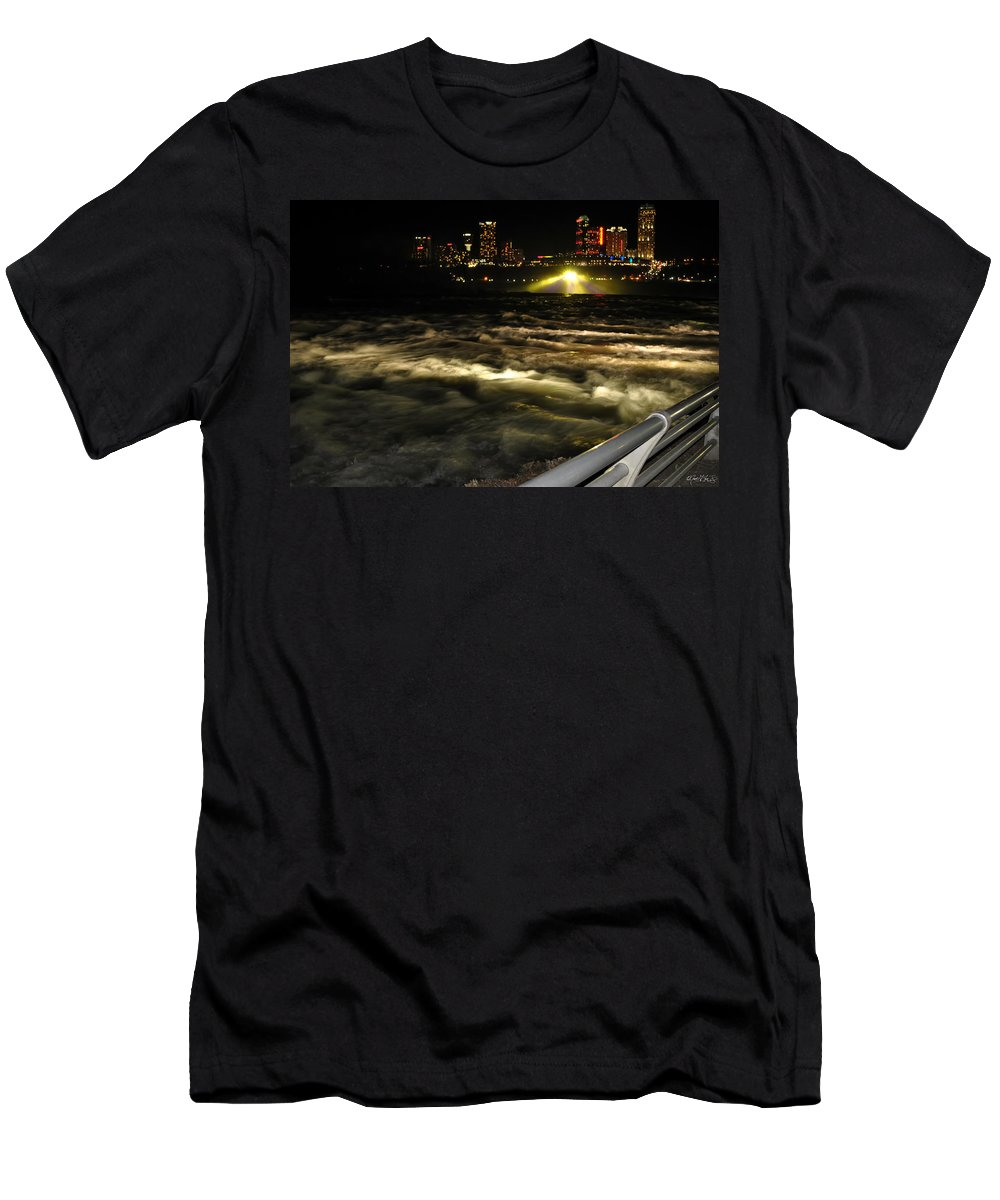 Men's T-Shirt (Athletic Fit) featuring the photograph 013 Niagara Falls Usa Rapids Series by Michael Frank Jr