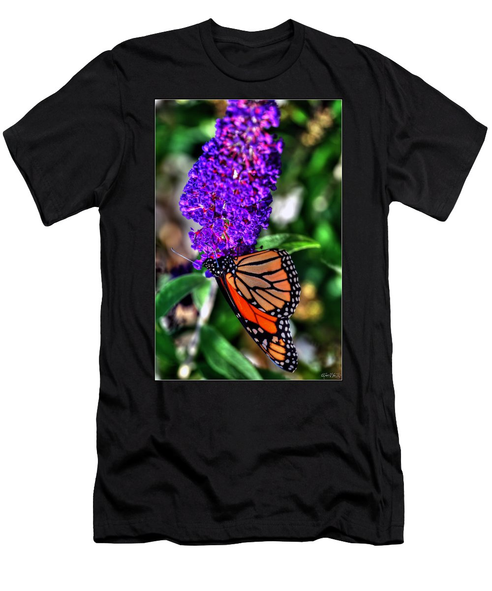 Men's T-Shirt (Athletic Fit) featuring the photograph 015 Making Things New Via The Butterfly Series by Michael Frank Jr