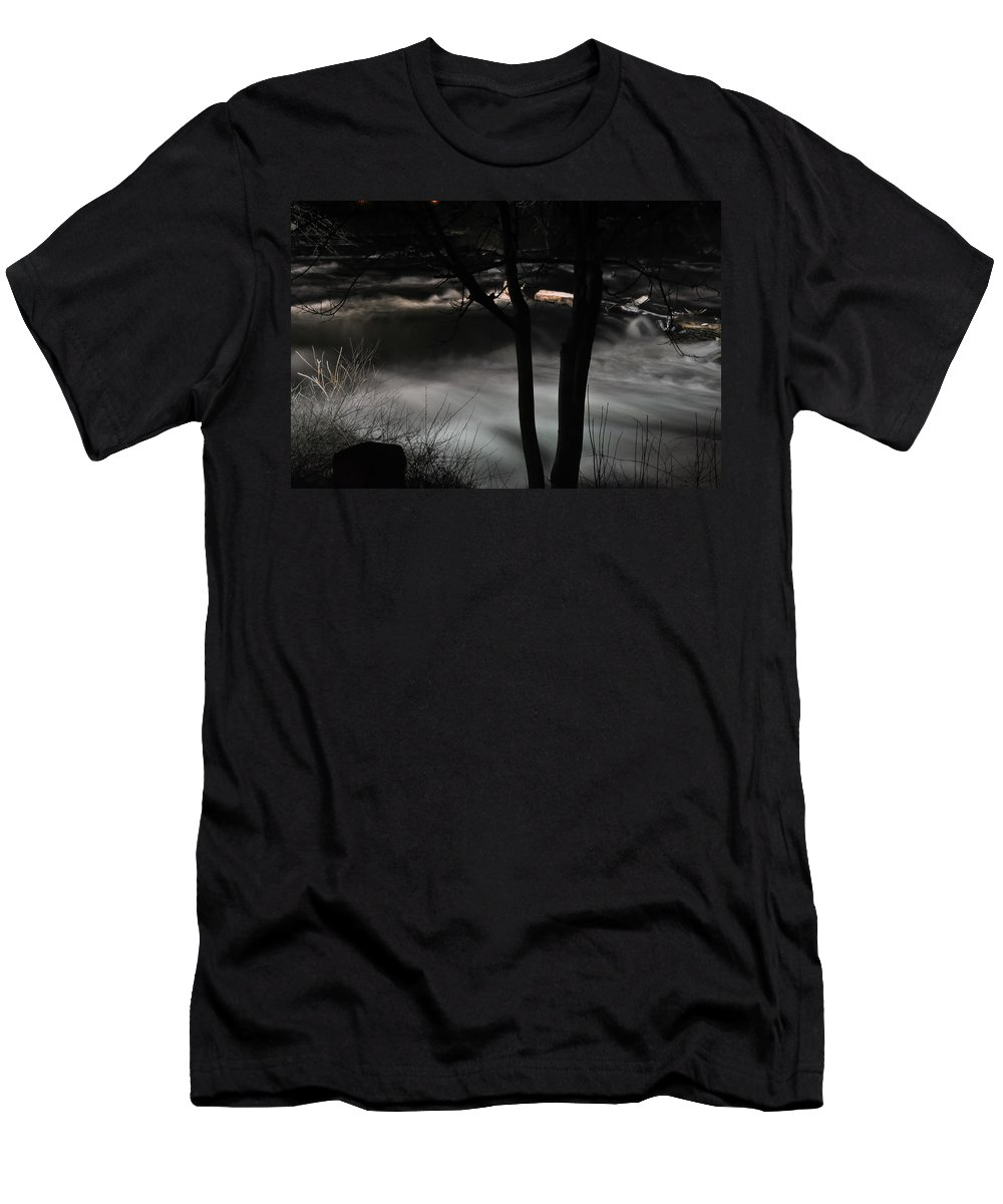 Men's T-Shirt (Athletic Fit) featuring the photograph 02 Niagara Falls Usa Rapids Series by Michael Frank Jr