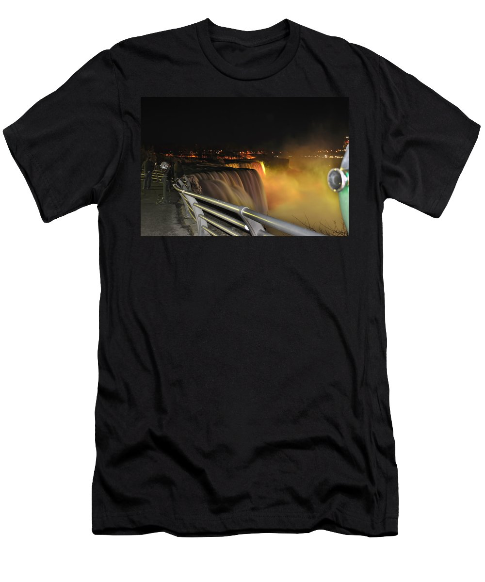 Men's T-Shirt (Athletic Fit) featuring the photograph 08 Niagara Falls Usa Series by Michael Frank Jr