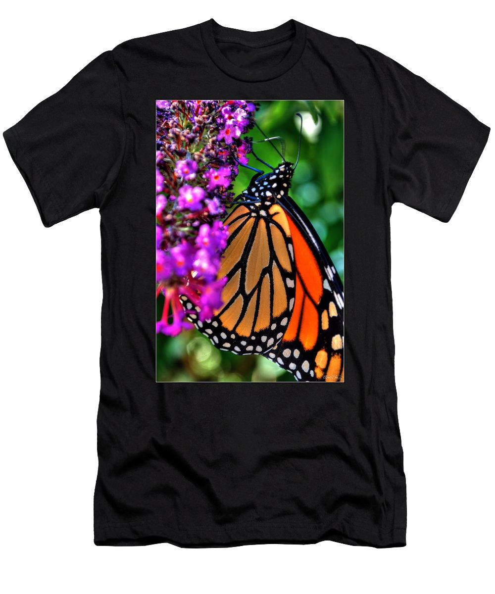 Men's T-Shirt (Athletic Fit) featuring the photograph 007 Making Things New Via The Butterfly Series by Michael Frank Jr