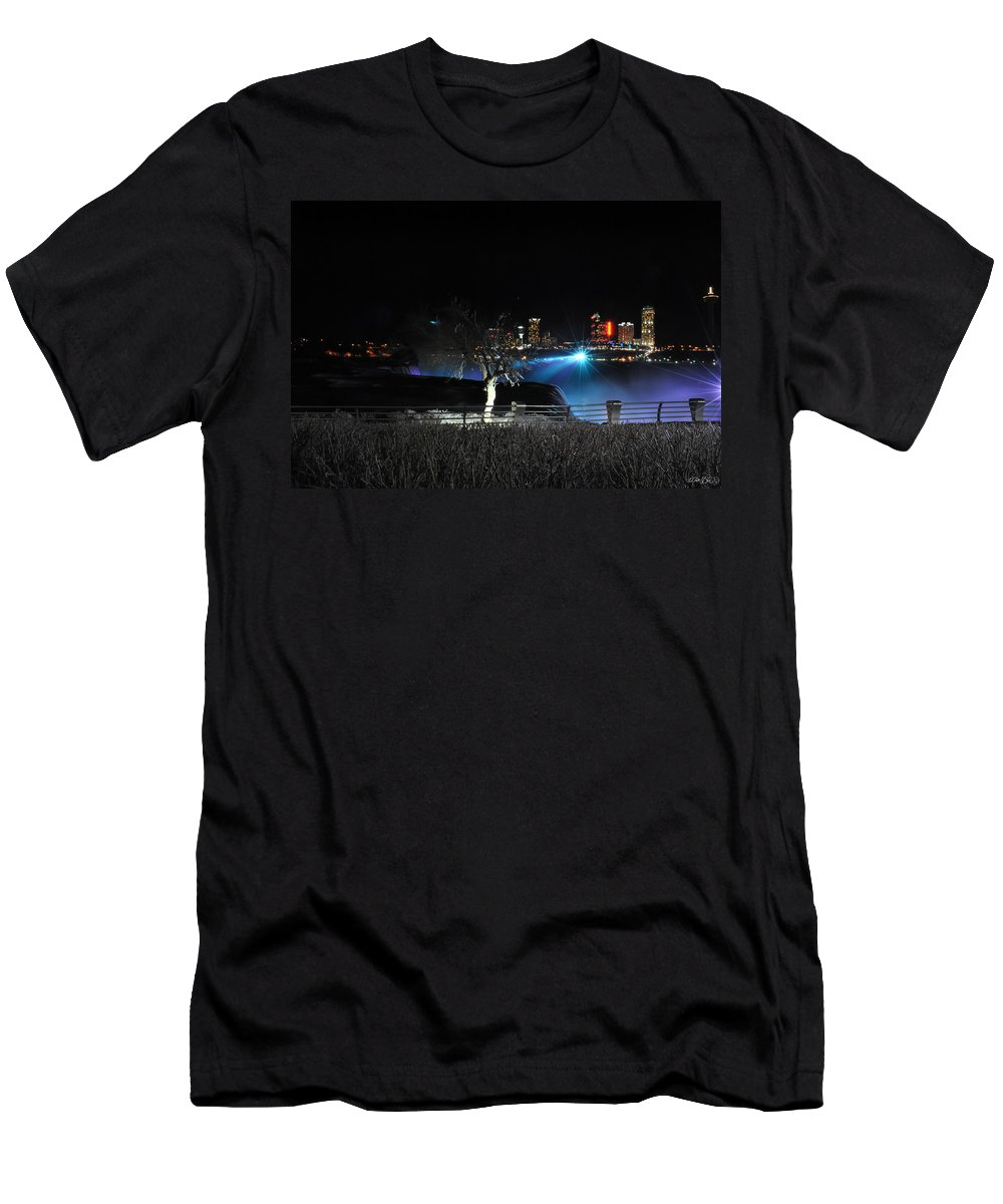 Men's T-Shirt (Athletic Fit) featuring the photograph 014 Niagara Falls Usa Series by Michael Frank Jr