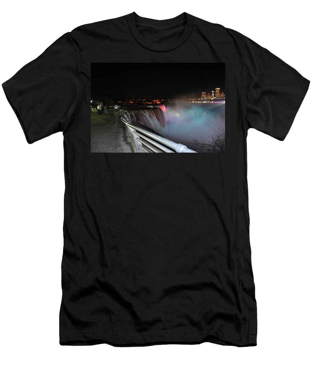 Men's T-Shirt (Athletic Fit) featuring the photograph 05 Niagara Falls Usa Series by Michael Frank Jr