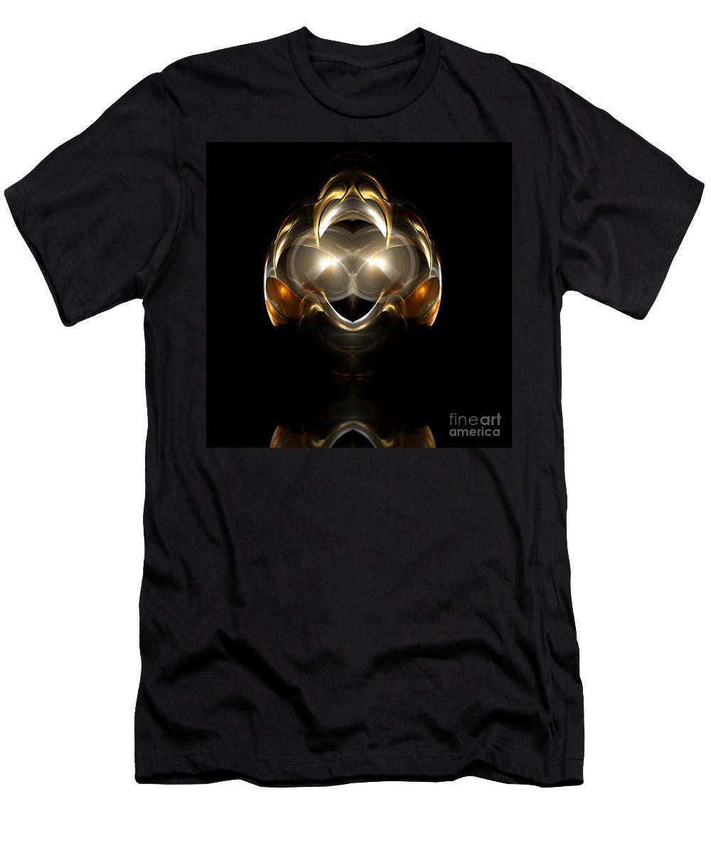 Fractal Digital Art Men's T-Shirt (Athletic Fit) featuring the photograph Abstract 111 by Mike Nellums
