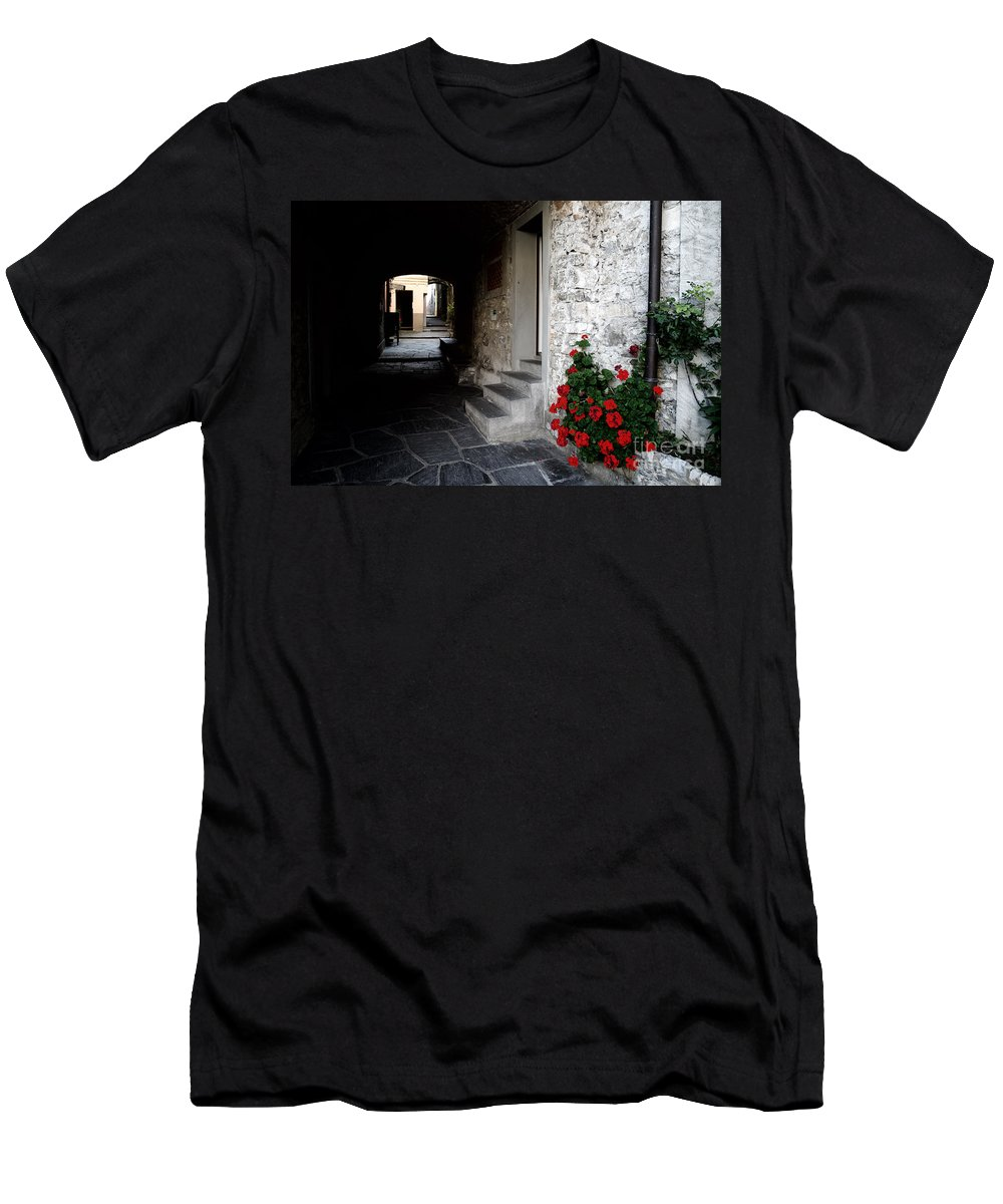 Alley Men's T-Shirt (Athletic Fit) featuring the photograph Alley With Arches by Mats Silvan