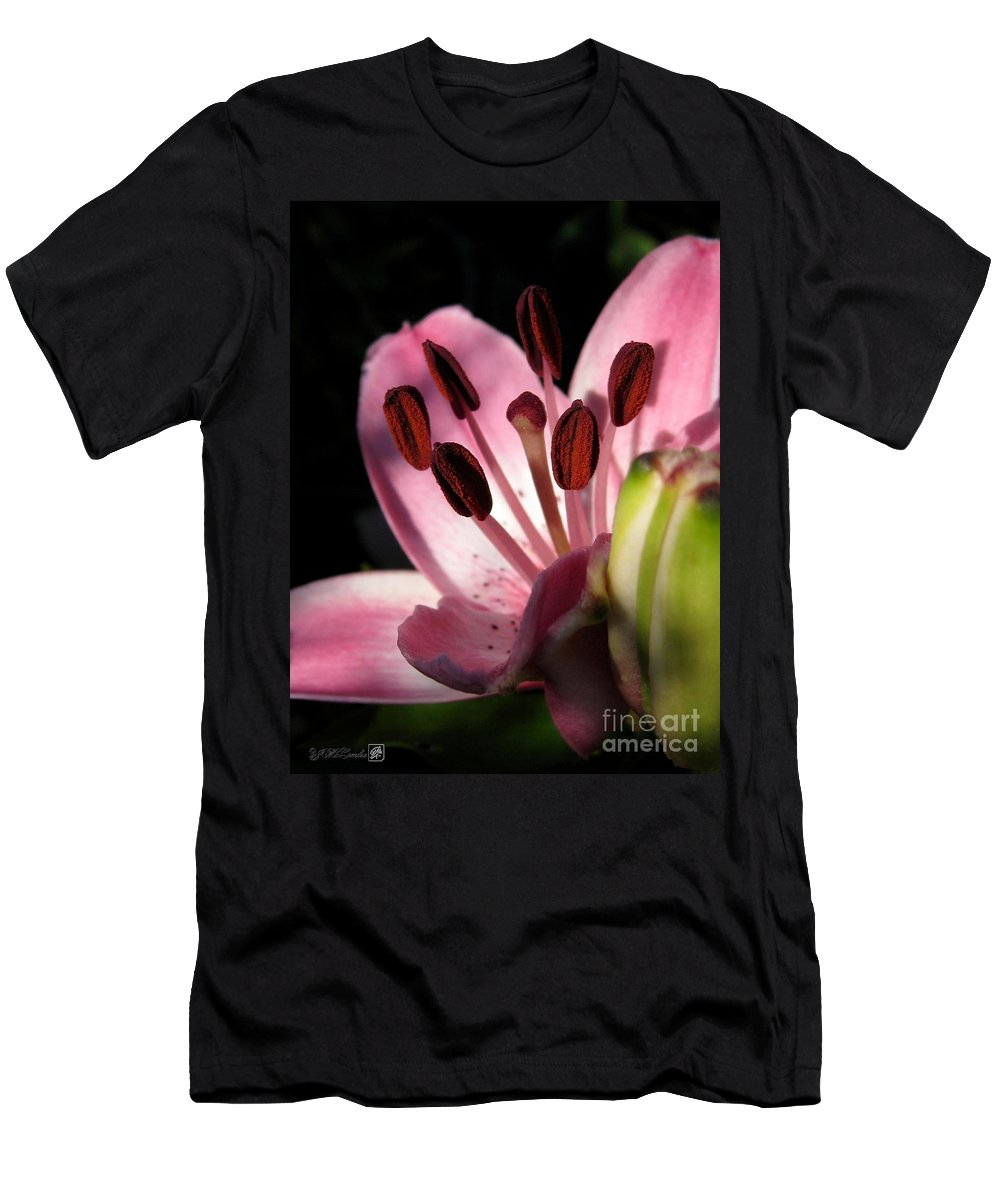 Asiatic Lily Men's T-Shirt (Athletic Fit) featuring the photograph Asiatic Lily Named Vermeer by J McCombie