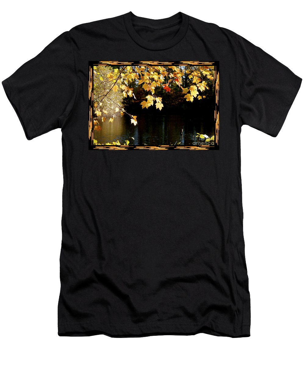 Autumn Evening Men's T-Shirt (Athletic Fit) featuring the photograph Autumn Evening by Heinz G Mielke