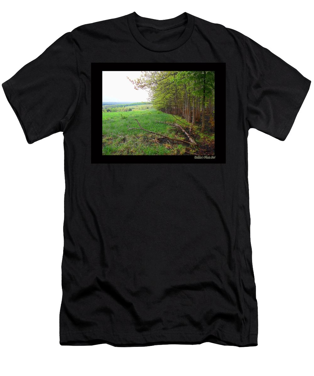Nature Men's T-Shirt (Athletic Fit) featuring the photograph Between Here And There by Debbie Portwood