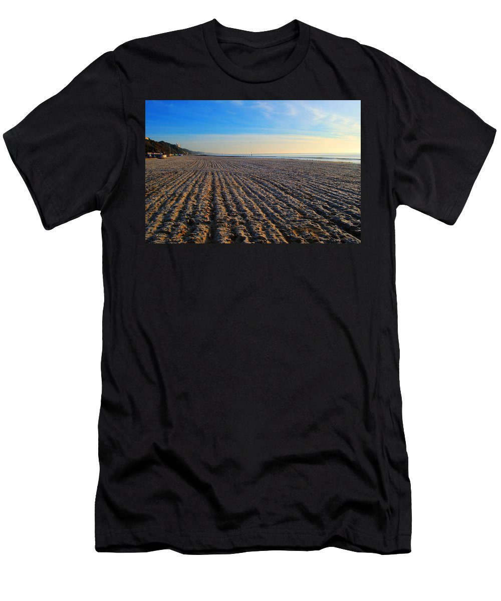 Bournemouth Men's T-Shirt (Athletic Fit) featuring the photograph Bournemouth Beach by Chris Day