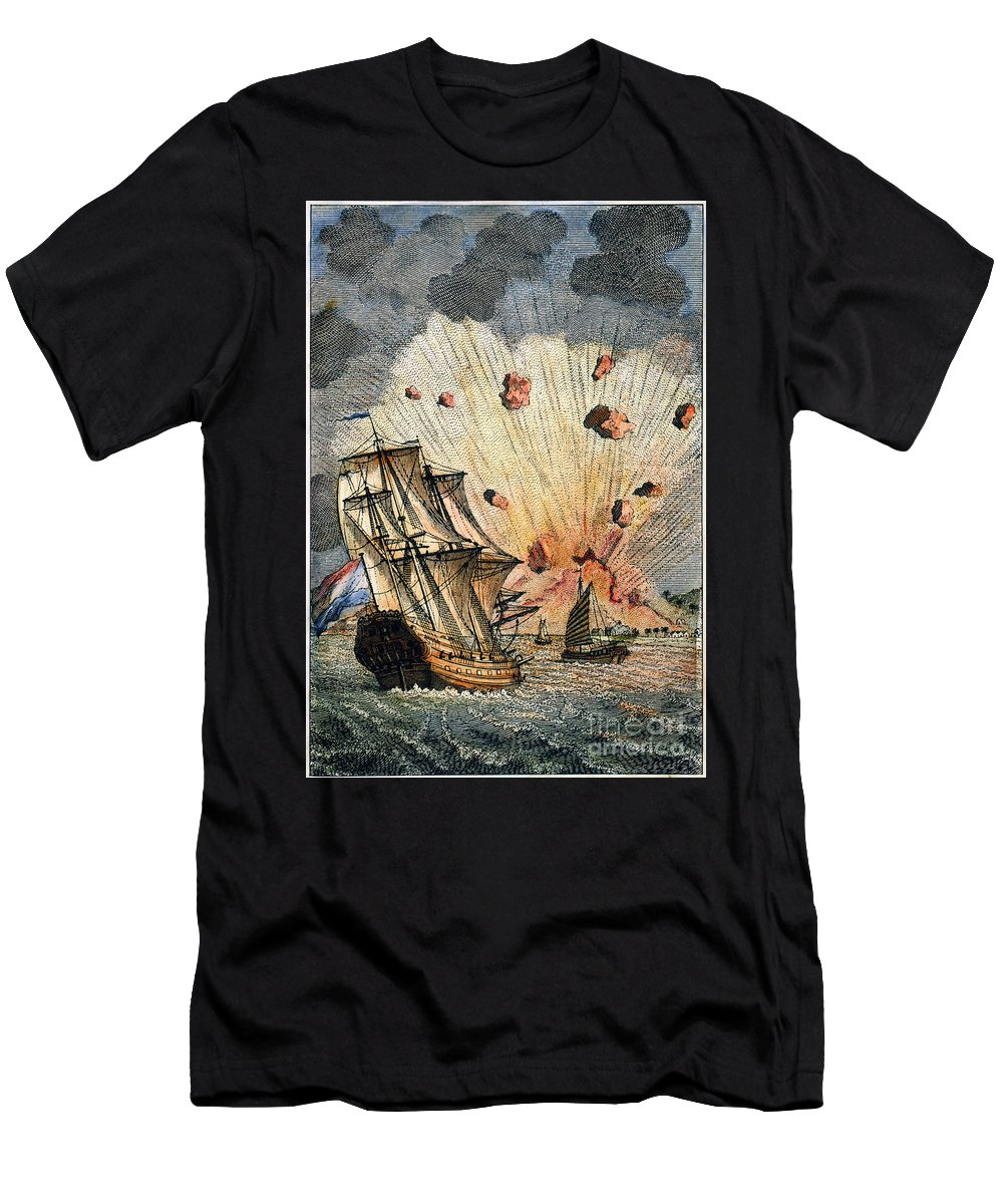 1673 Men's T-Shirt (Athletic Fit) featuring the photograph Eruption Of Gamkonora by Granger