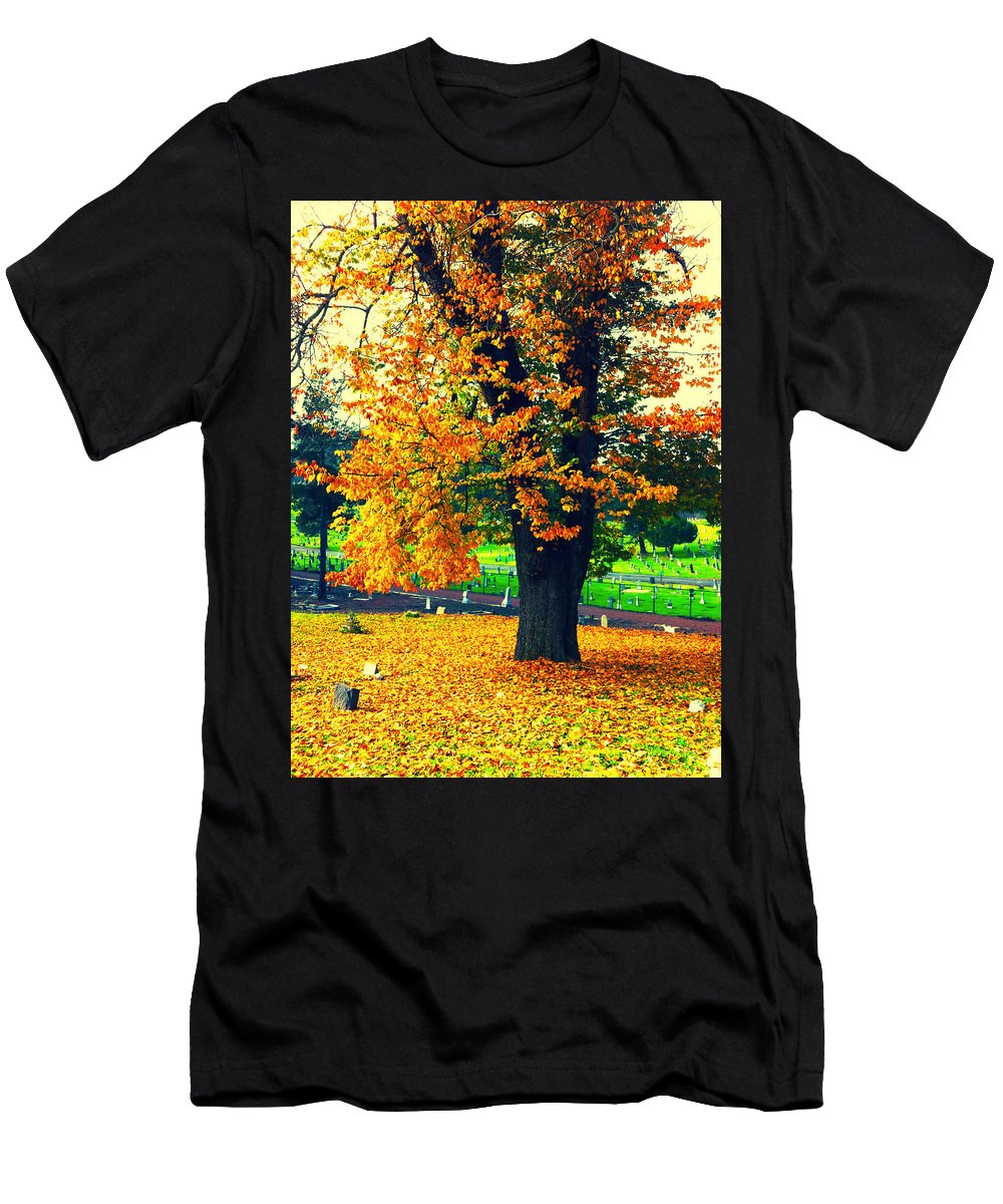 Autumn Men's T-Shirt (Athletic Fit) featuring the photograph Fall by Priscilla De Mesa