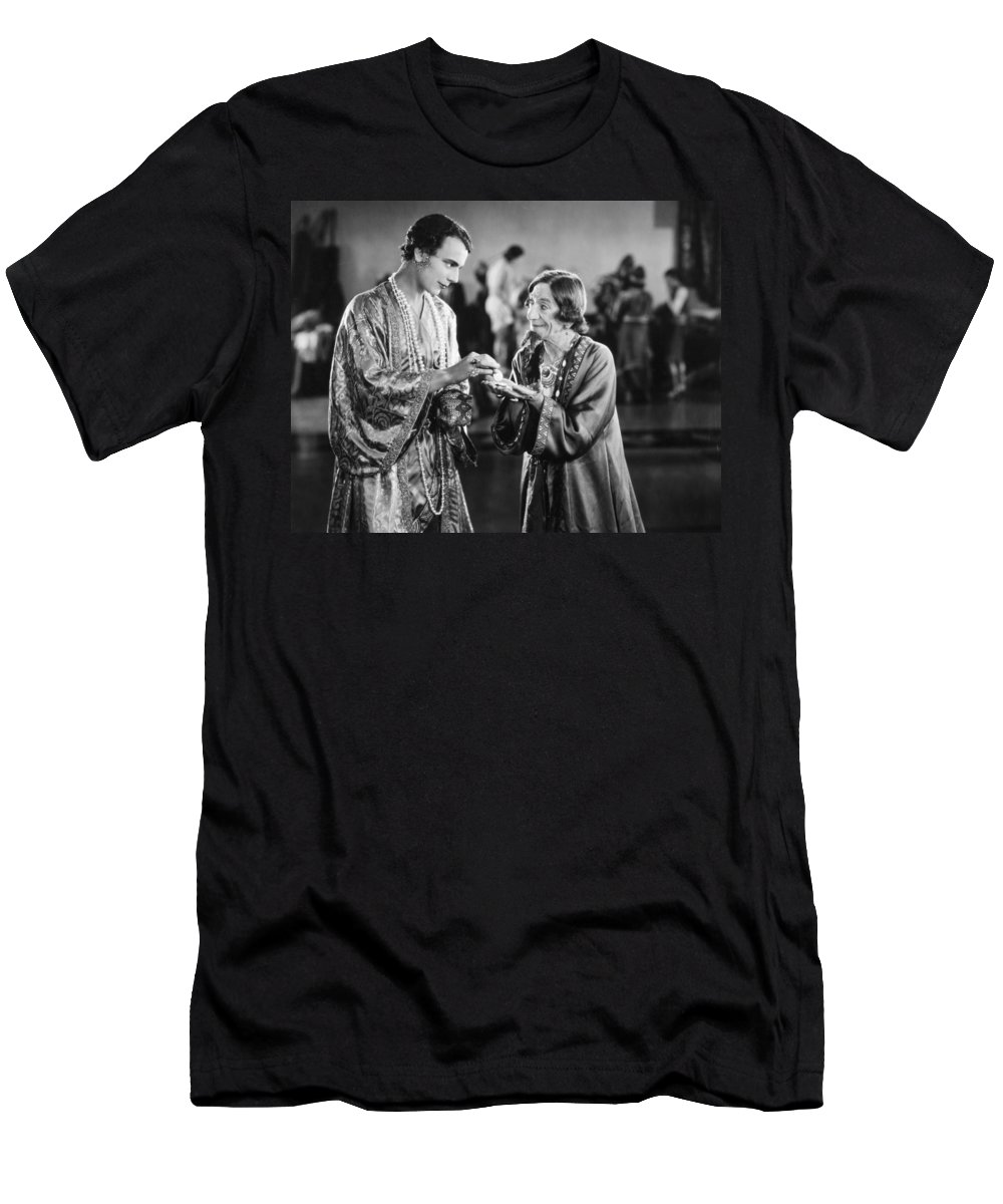 -fortune Telling- Men's T-Shirt (Athletic Fit) featuring the photograph Film Still: Fortune Telling by Granger