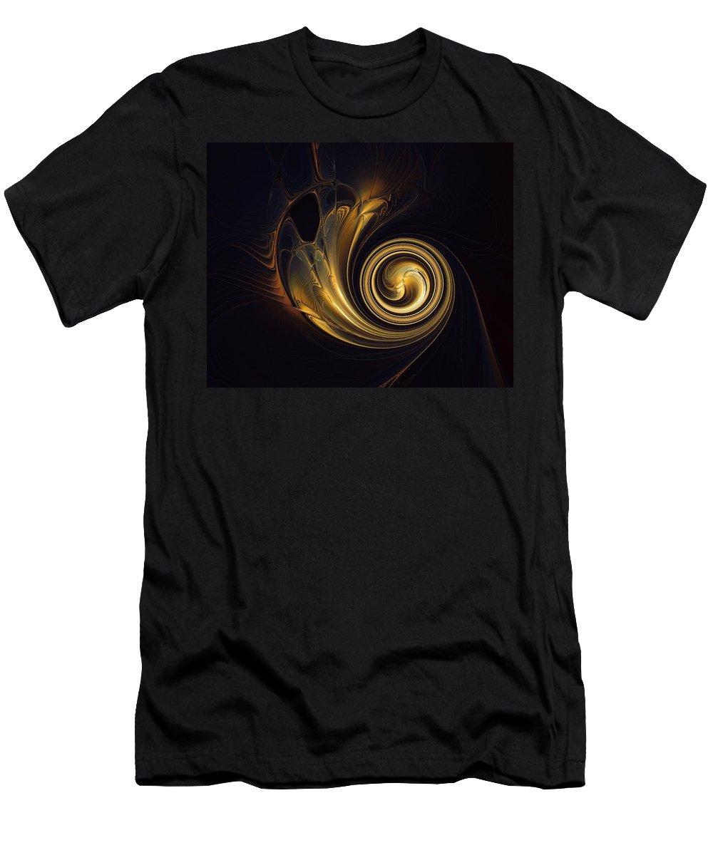 Digital Art Men's T-Shirt (Athletic Fit) featuring the digital art Golden Spiral by Amanda Moore